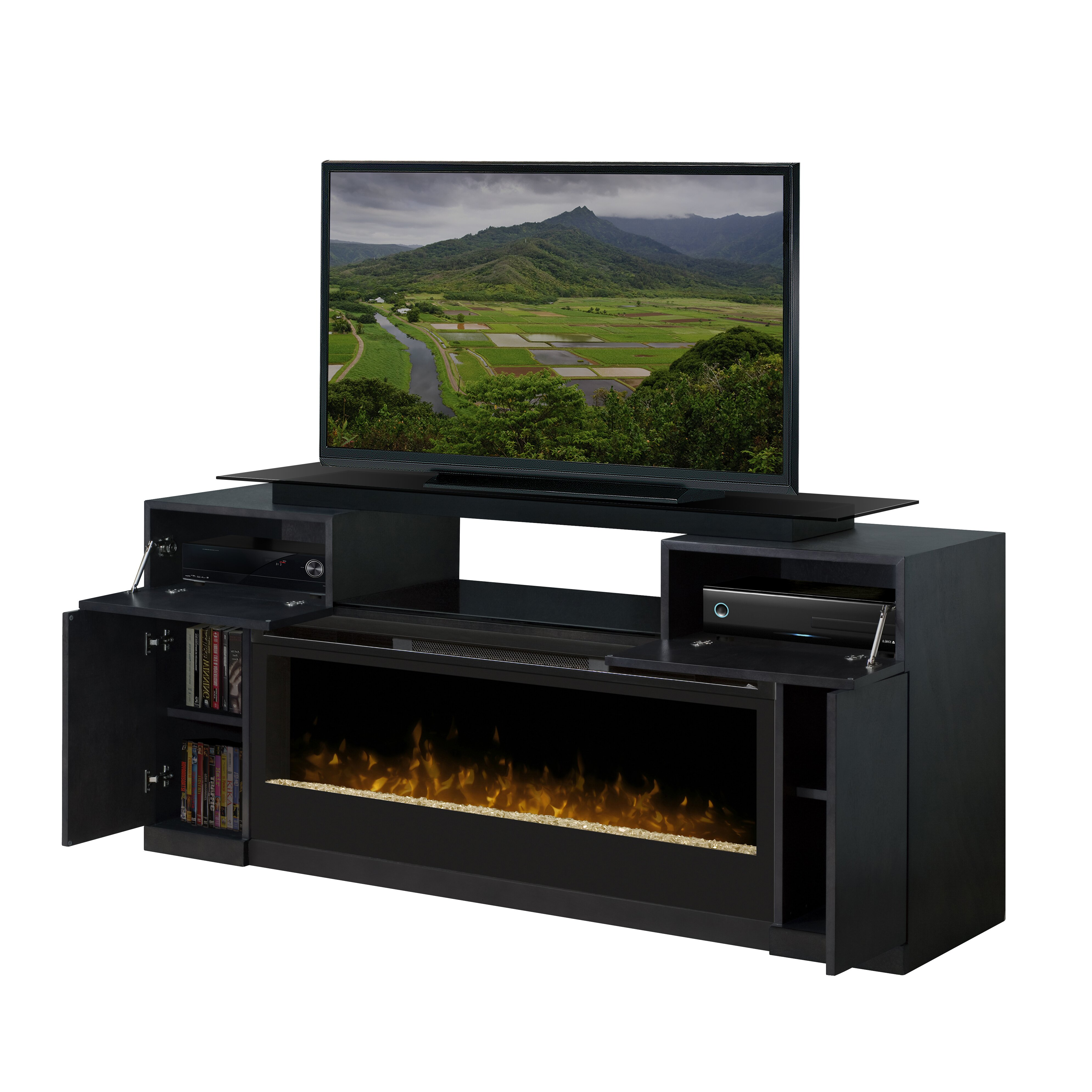 dimplex concord tv stand with electric fireplace reviews wayfair