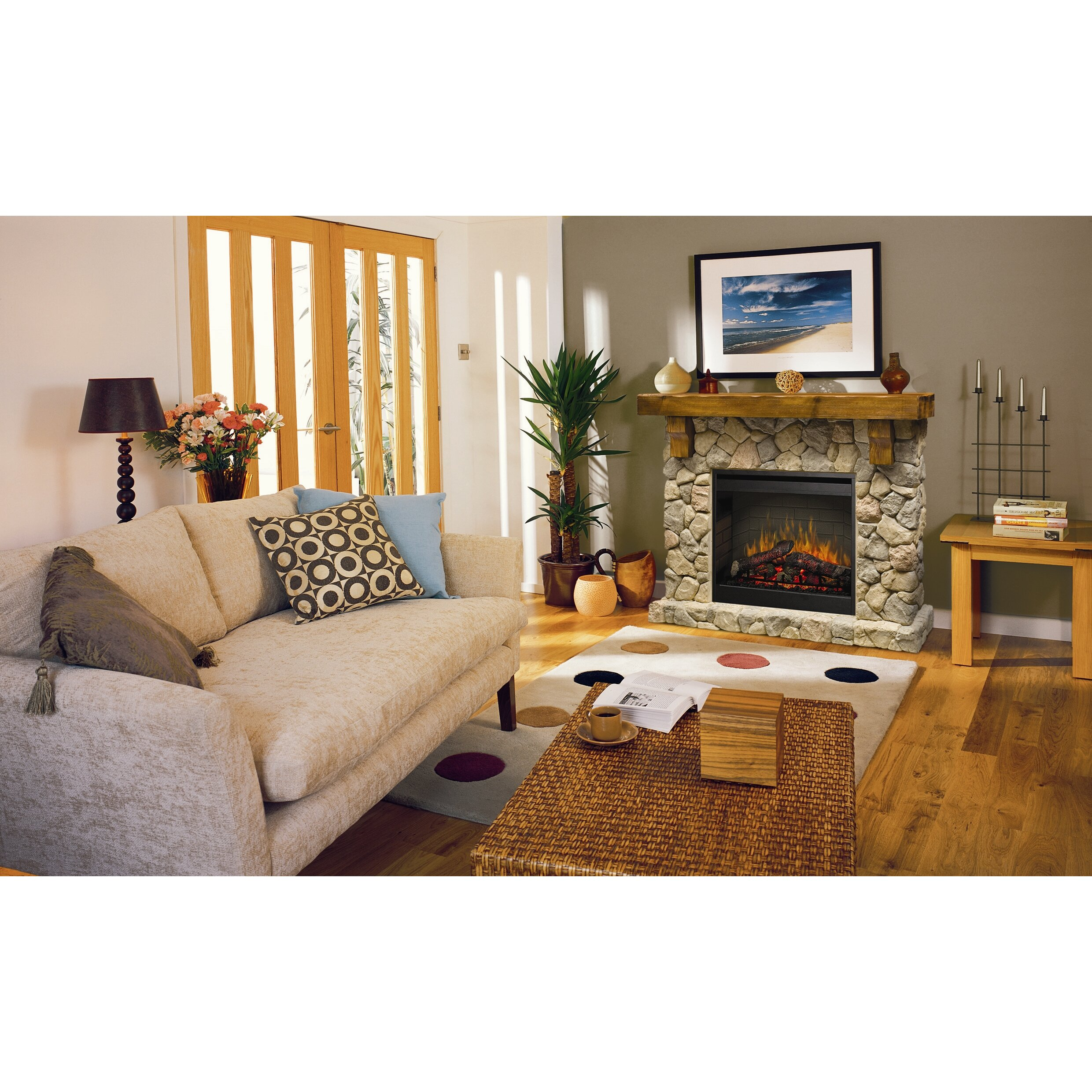 Dimplex Fieldstone Electric Fireplace & Reviews | Wayfair