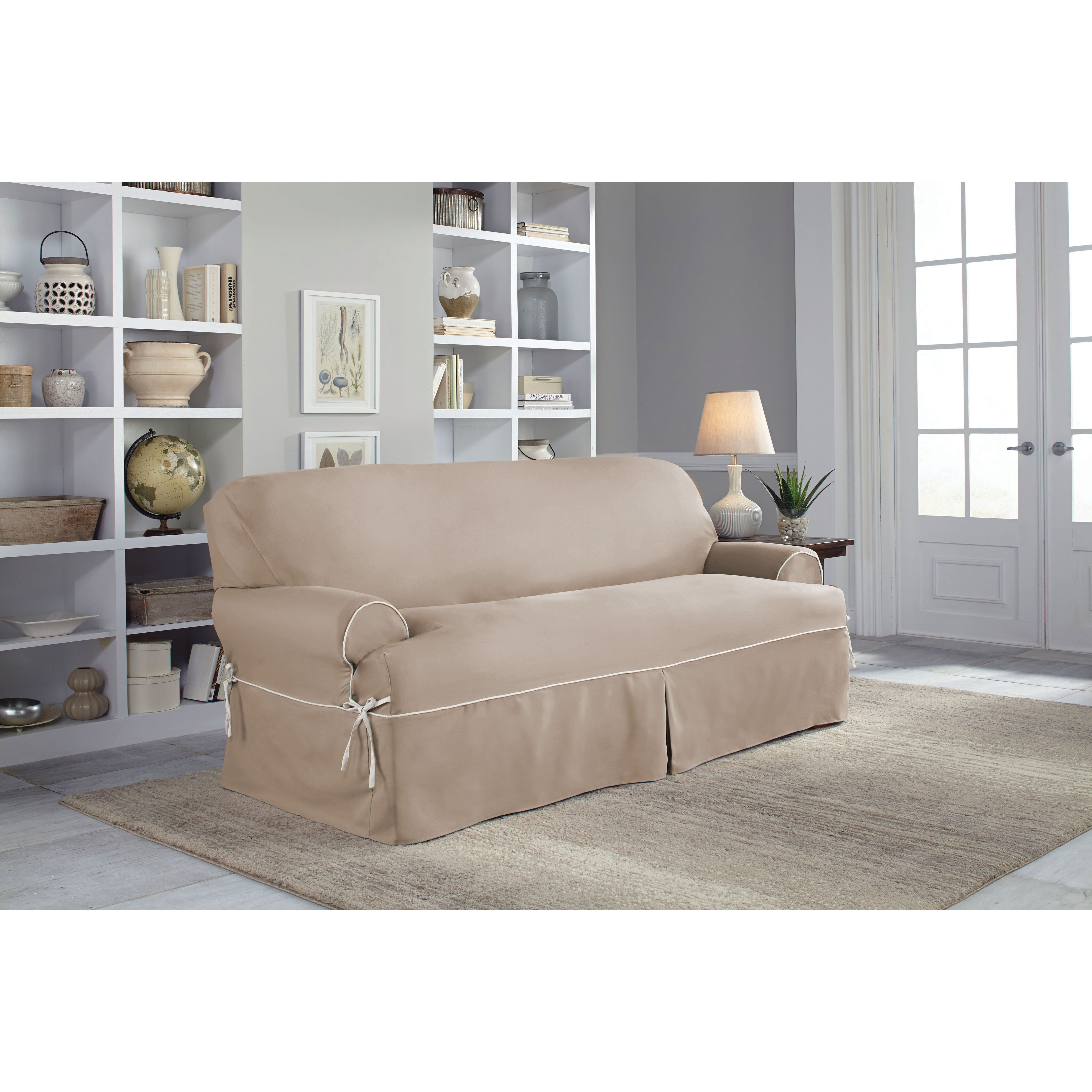 Serta Twill T Sofa Slipcover Amp Reviews Wayfair