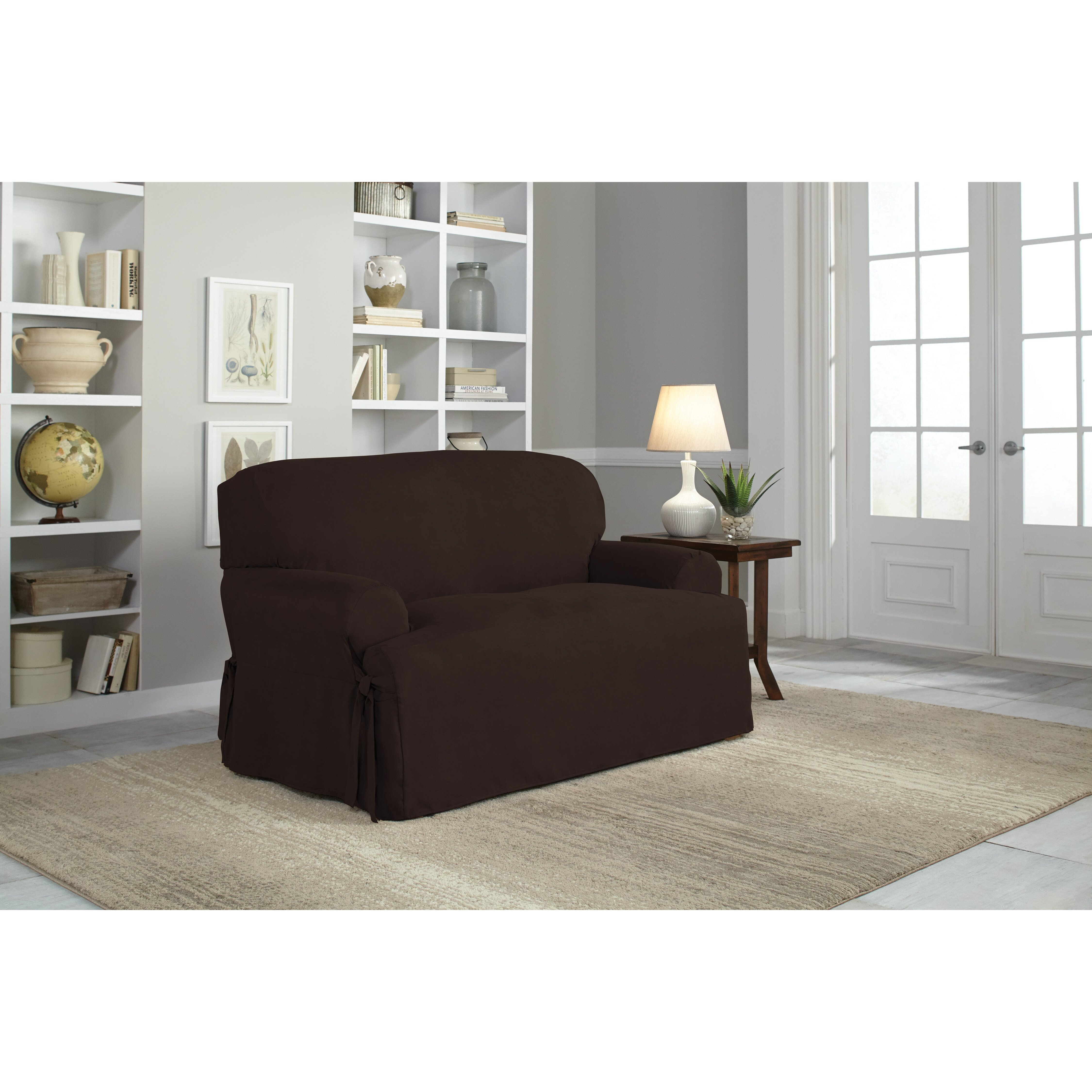 Serta Loveseat T Cushion Slipcover Reviews Wayfair