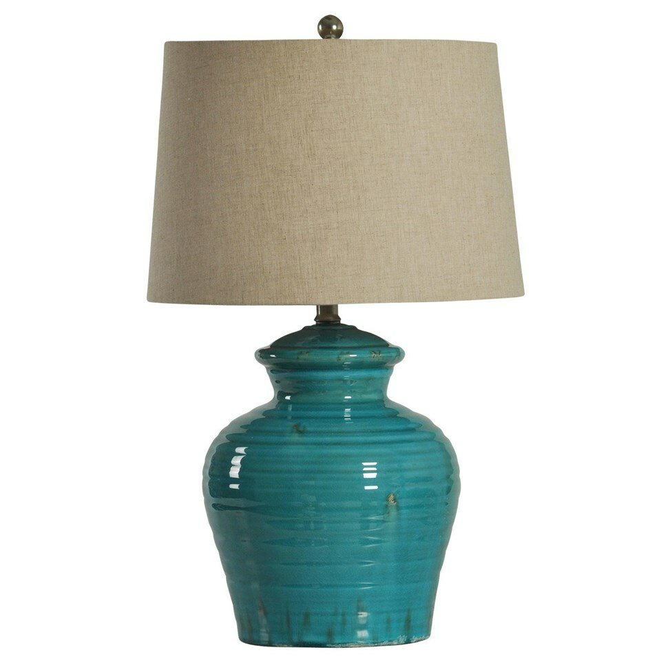 Style Craft Ceramic Jug 24 5 Quot H Table Lamp With Drum Shade