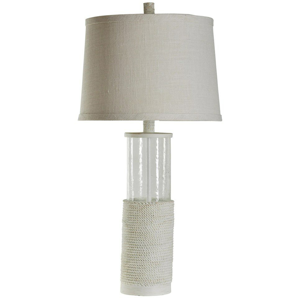 Beachcrest Home Clemson Nautical Seeded Glass 34 5 Table Lamp Rev