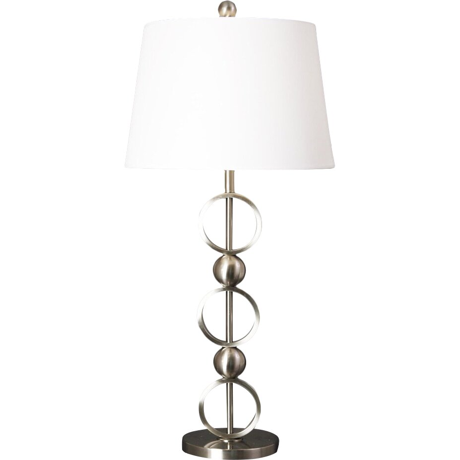 """Metal Ball Lamp Shade: Style Craft Stacked Loop And Ball 30.5"""" H Table Lamp With"""