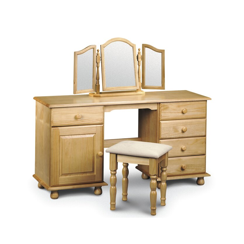 All home woodward 5 drawer twin pedestal dressing table for 90cm dressing table