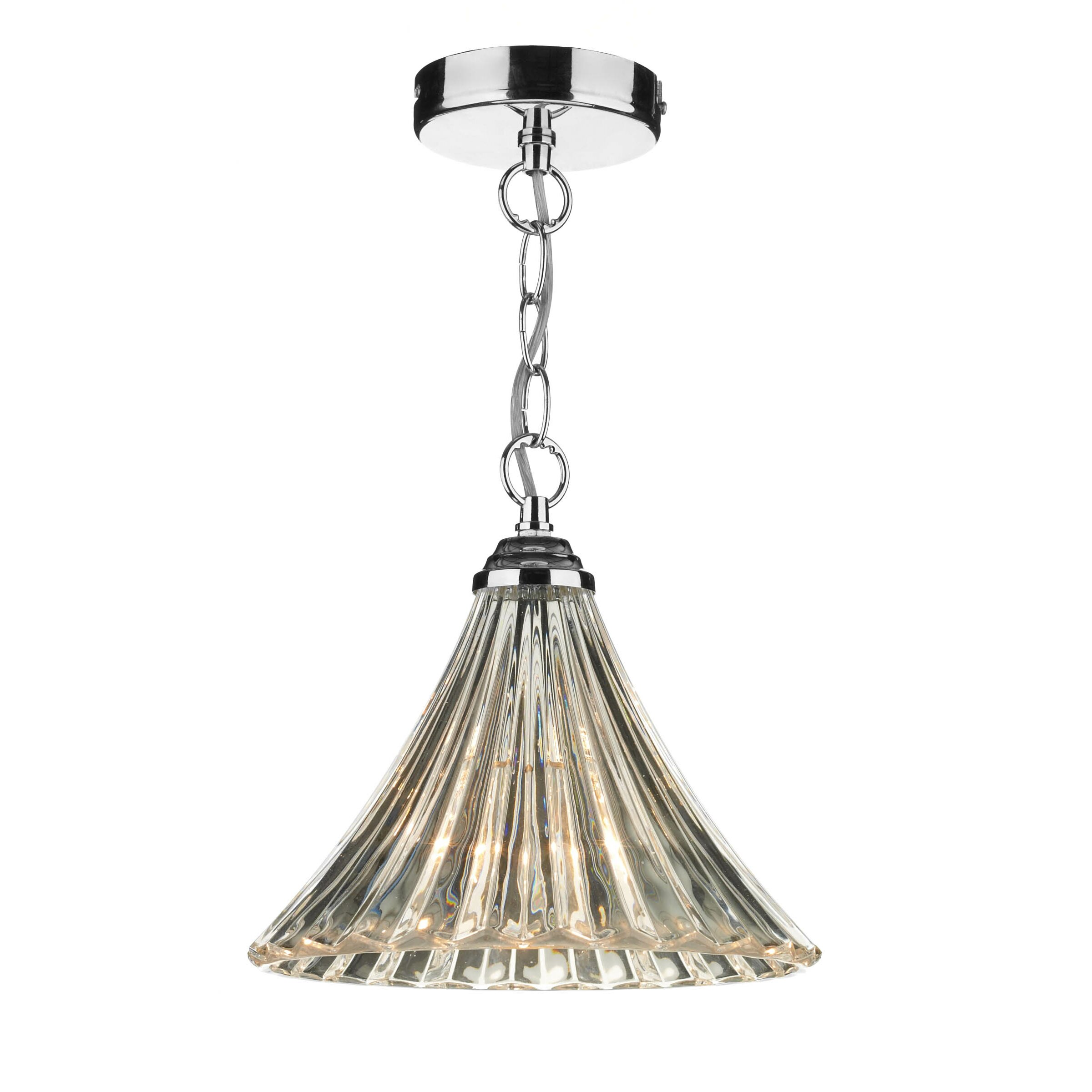 Dar Lighting Ardeche Fluted 1 Light Mini Pendant Amp Reviews