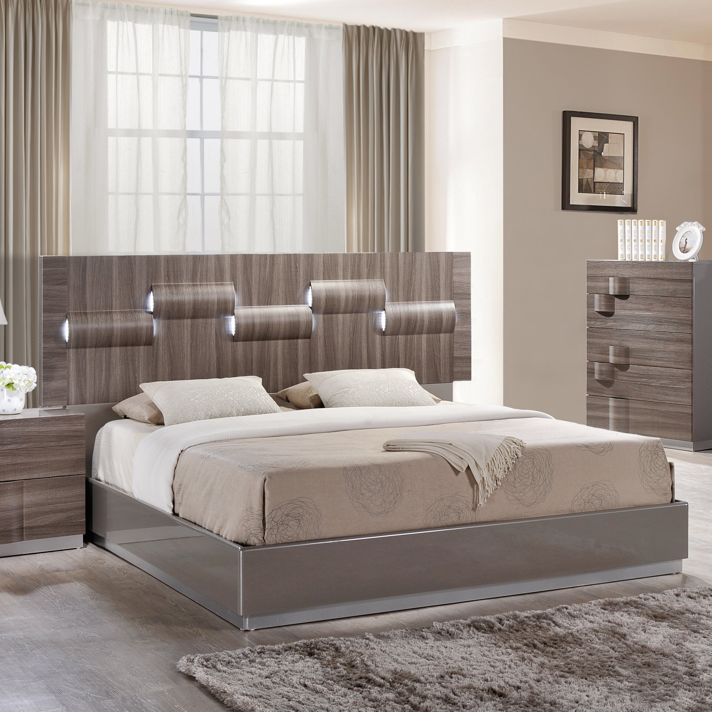 Global furniture usa platform bed wayfair for Bedroom furniture usa