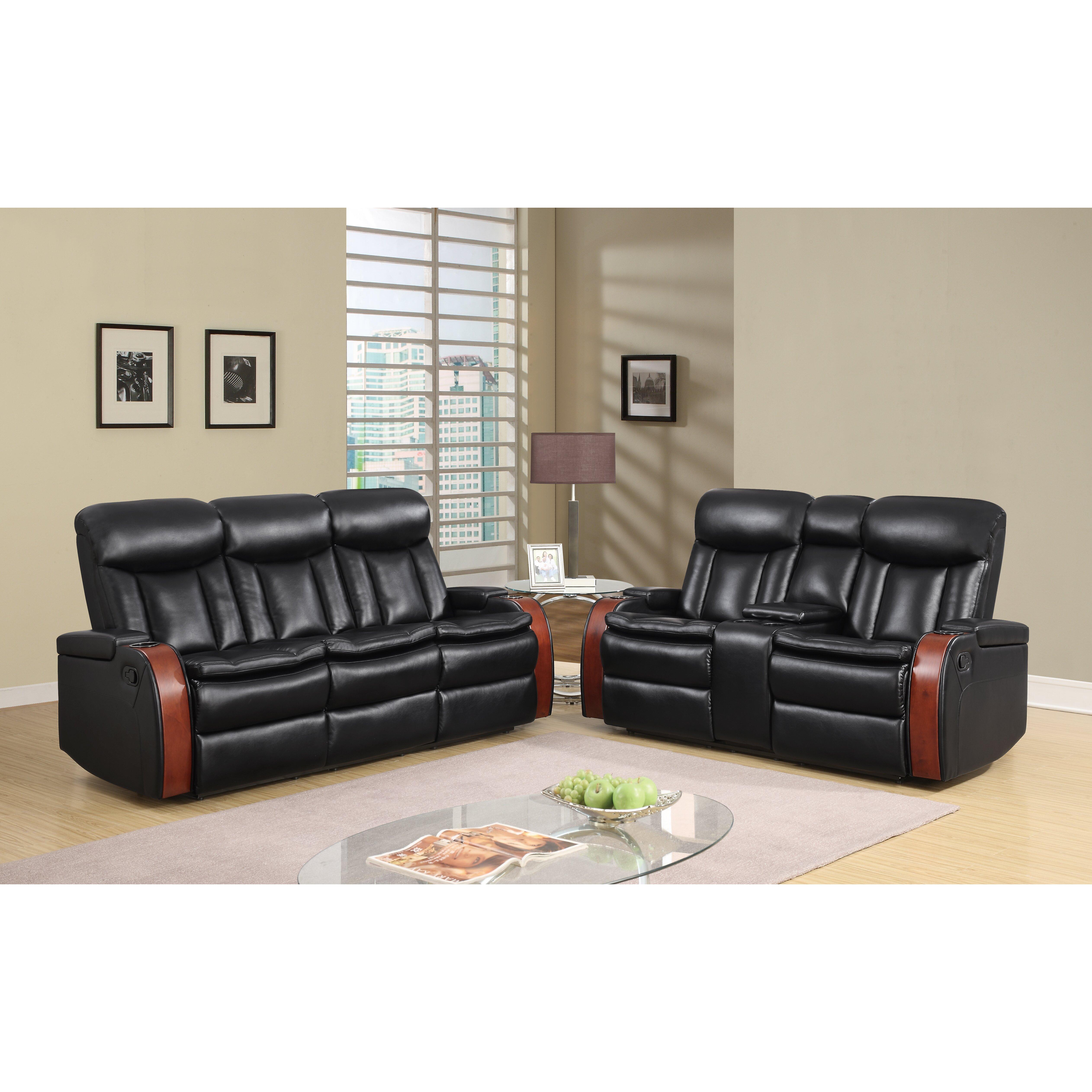 Global furniture usa blanche console loveseat wayfair for Furniture usa
