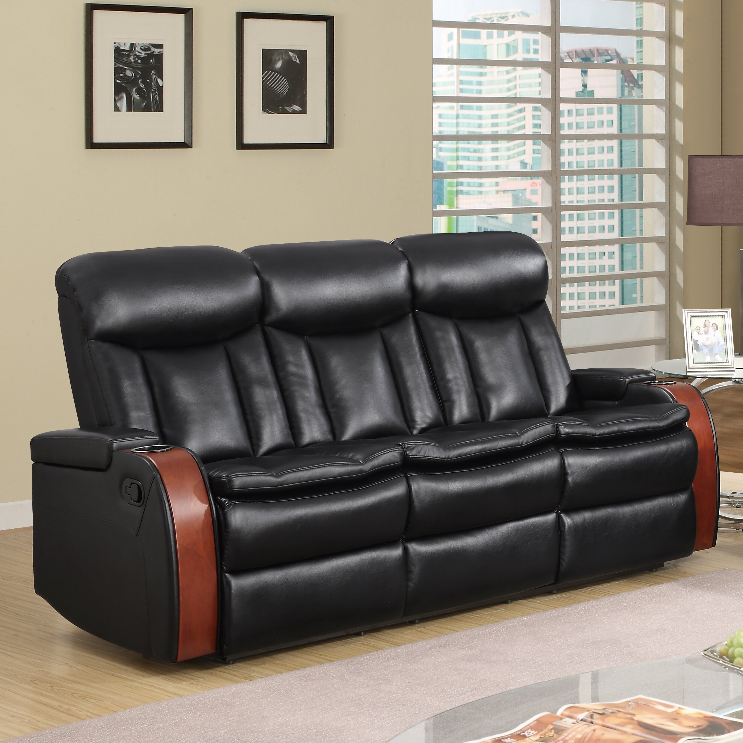 Global furniture usa blanche reclining sofa wayfair for Buy sofa online usa