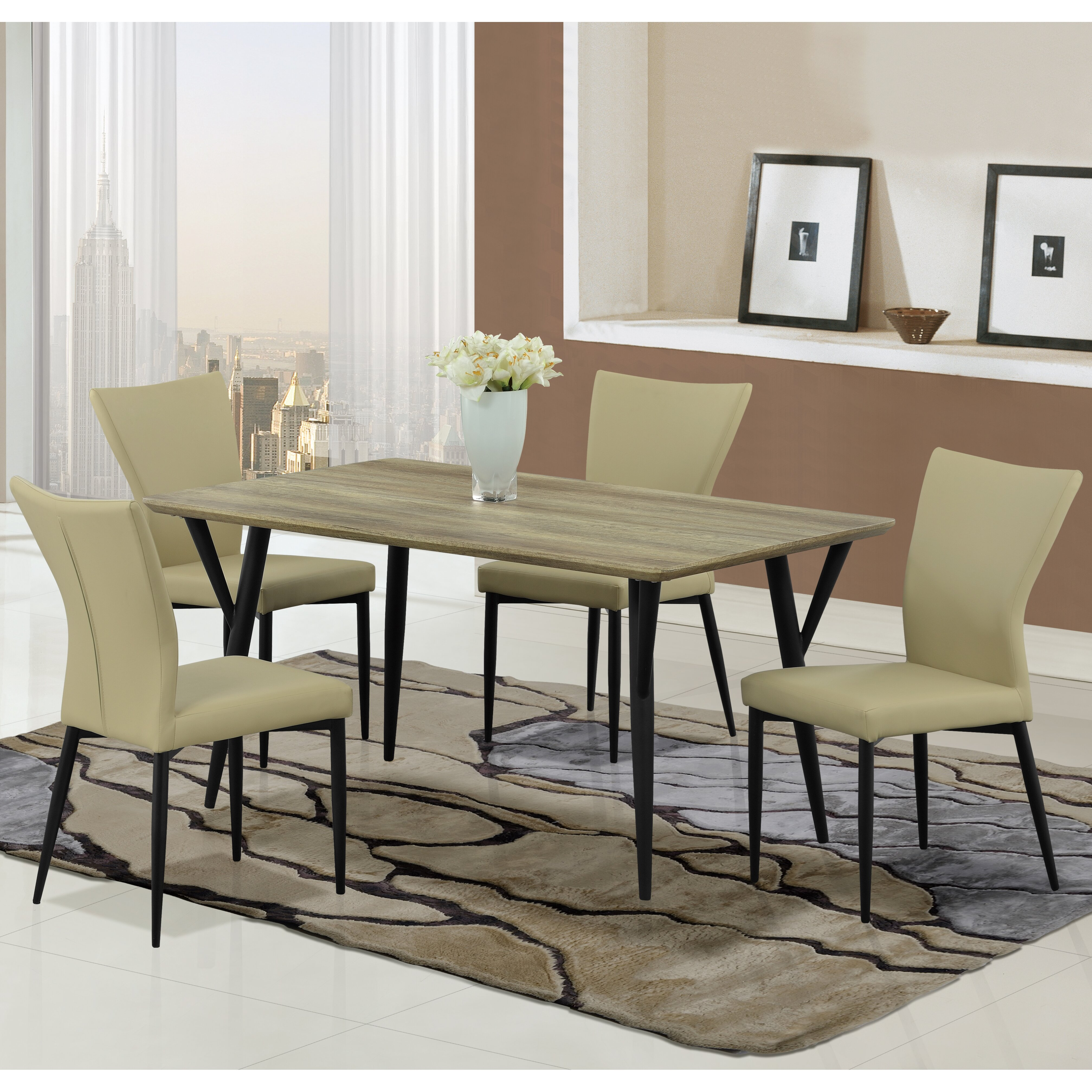Global Furniture Dining Table Black Contemporary Dining Tables ...