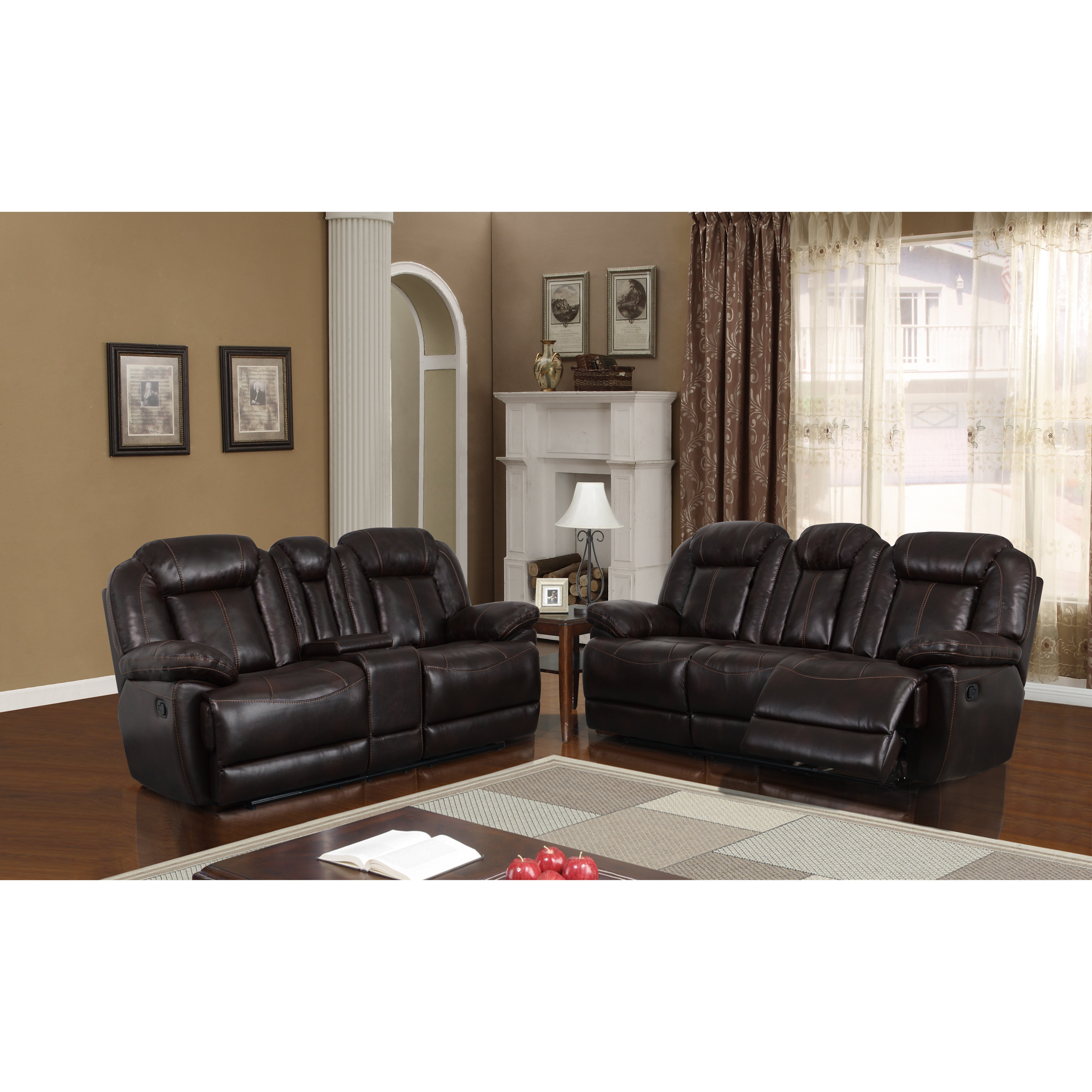 Global furniture usa console reclining loveseat wayfair for Furniture usa