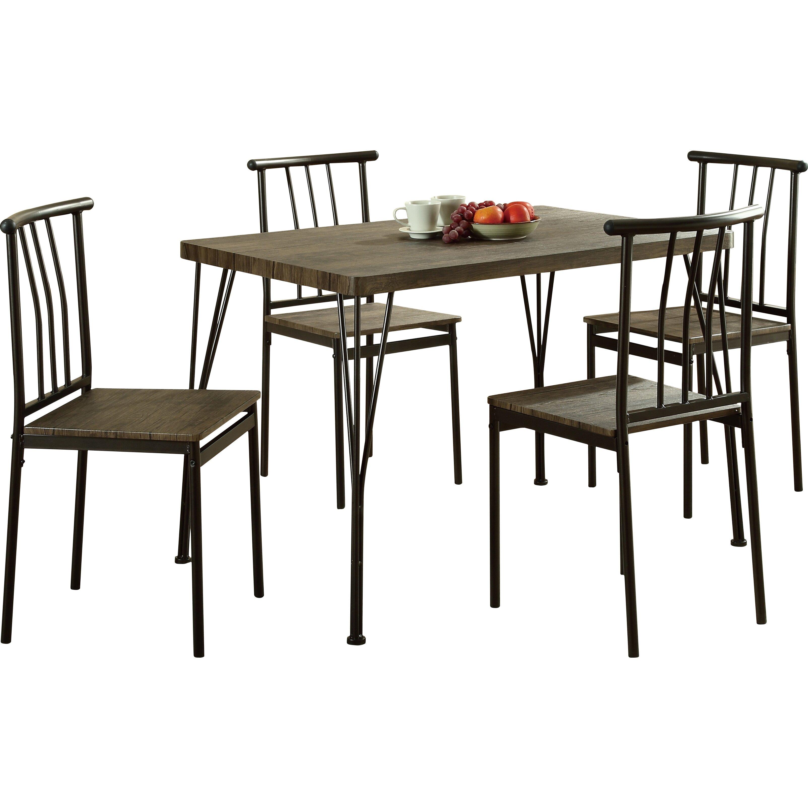 Global furniture usa 5 piece dining set reviews wayfair for Furniture usa