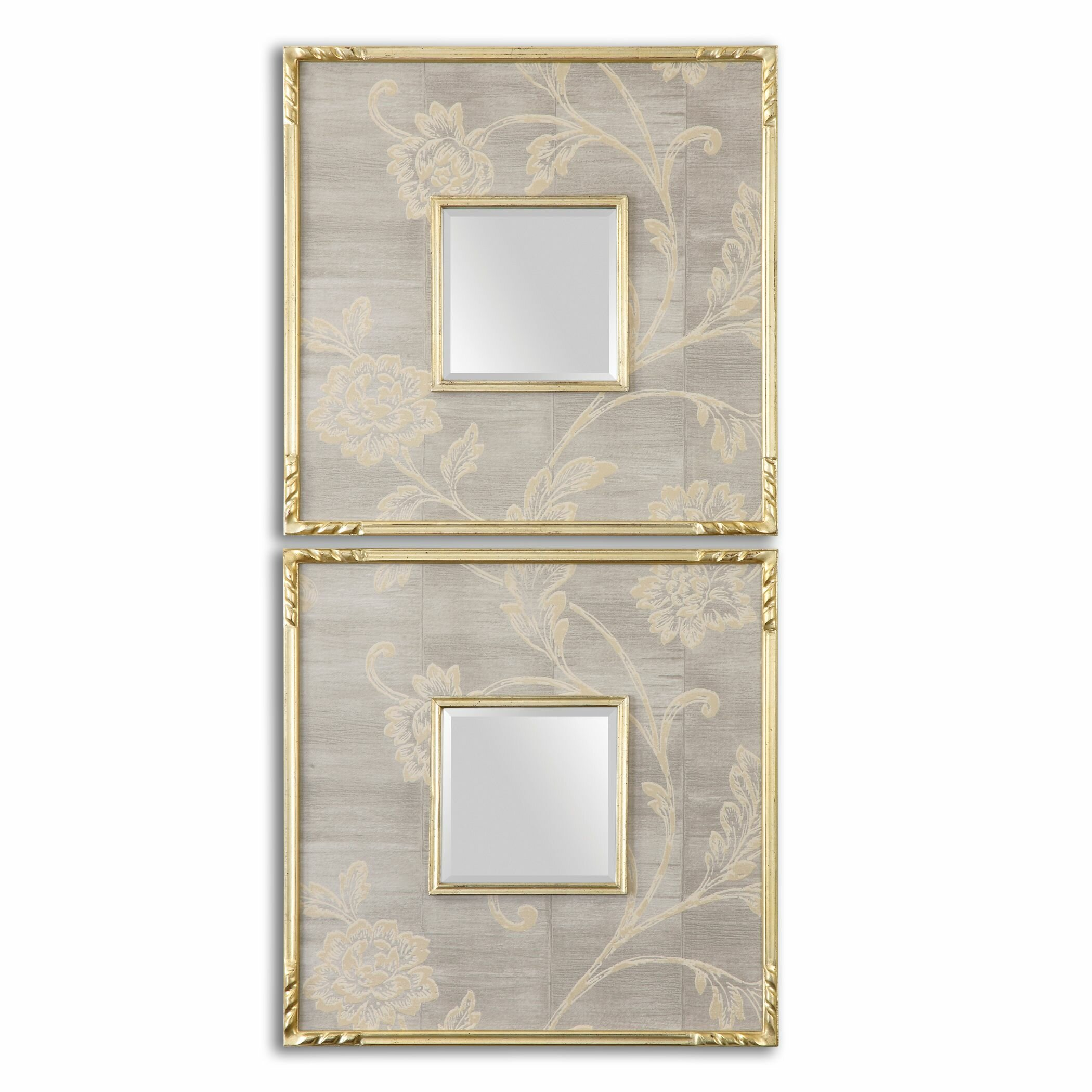 Uttermost evelyn square mirror reviews wayfair for Square mirror