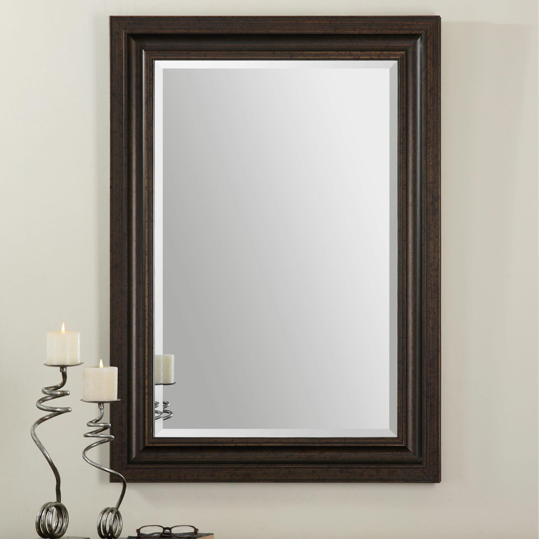 Uttermost adalwin dark bronze mirror reviews wayfair for Bronze mirror