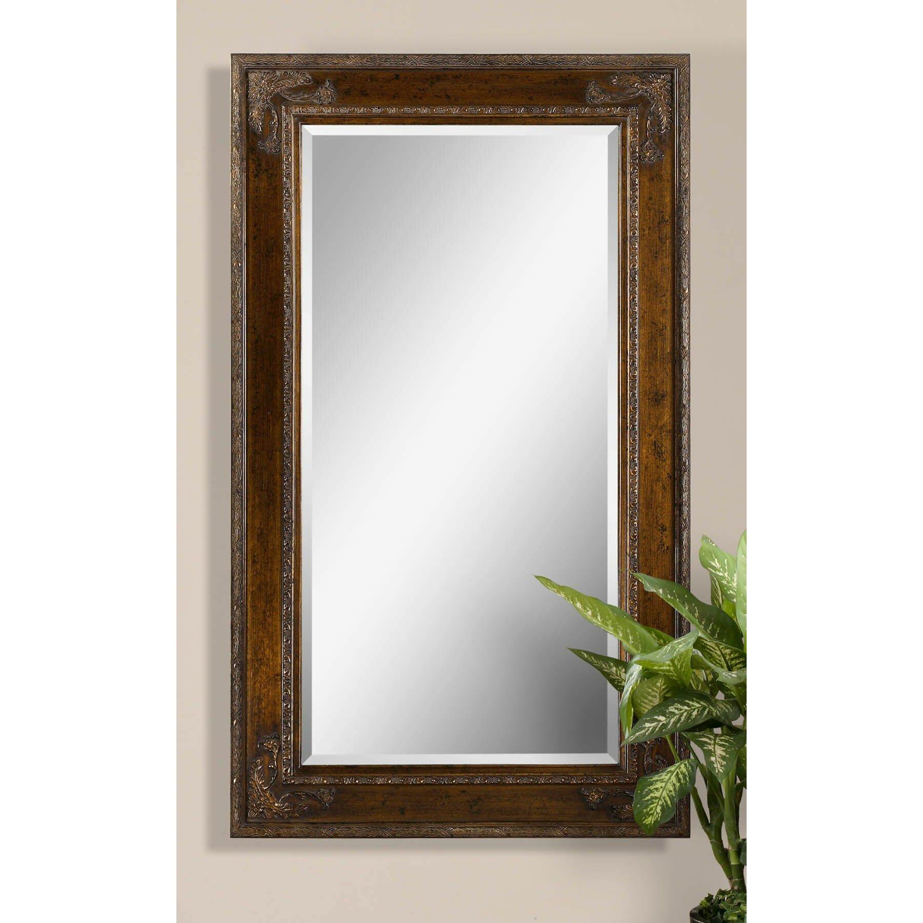 Uttermost edeva beveled mirror reviews wayfair for Beveled mirror
