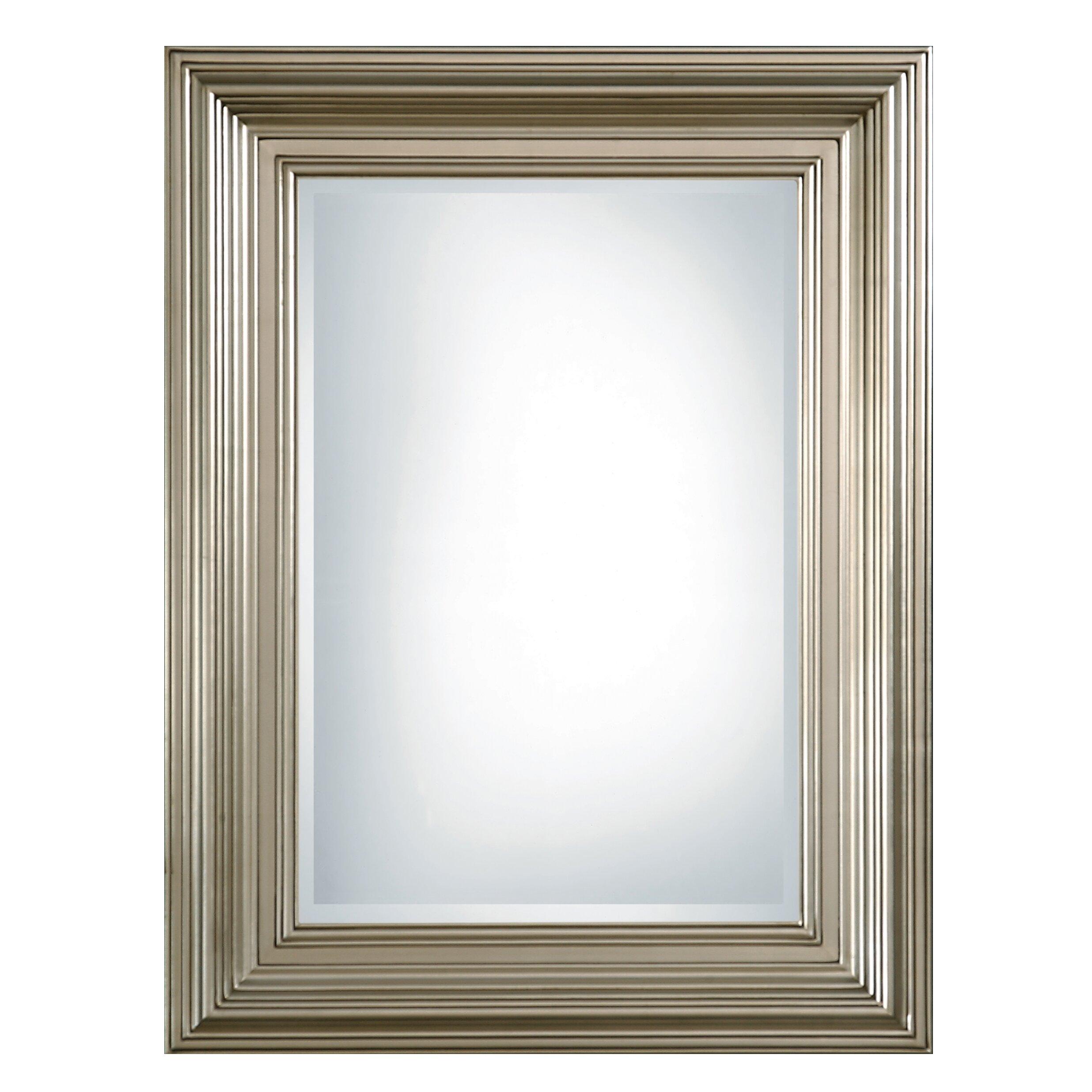 Uttermost mario rectangular beveled mirror reviews wayfair for Rectangle mirror