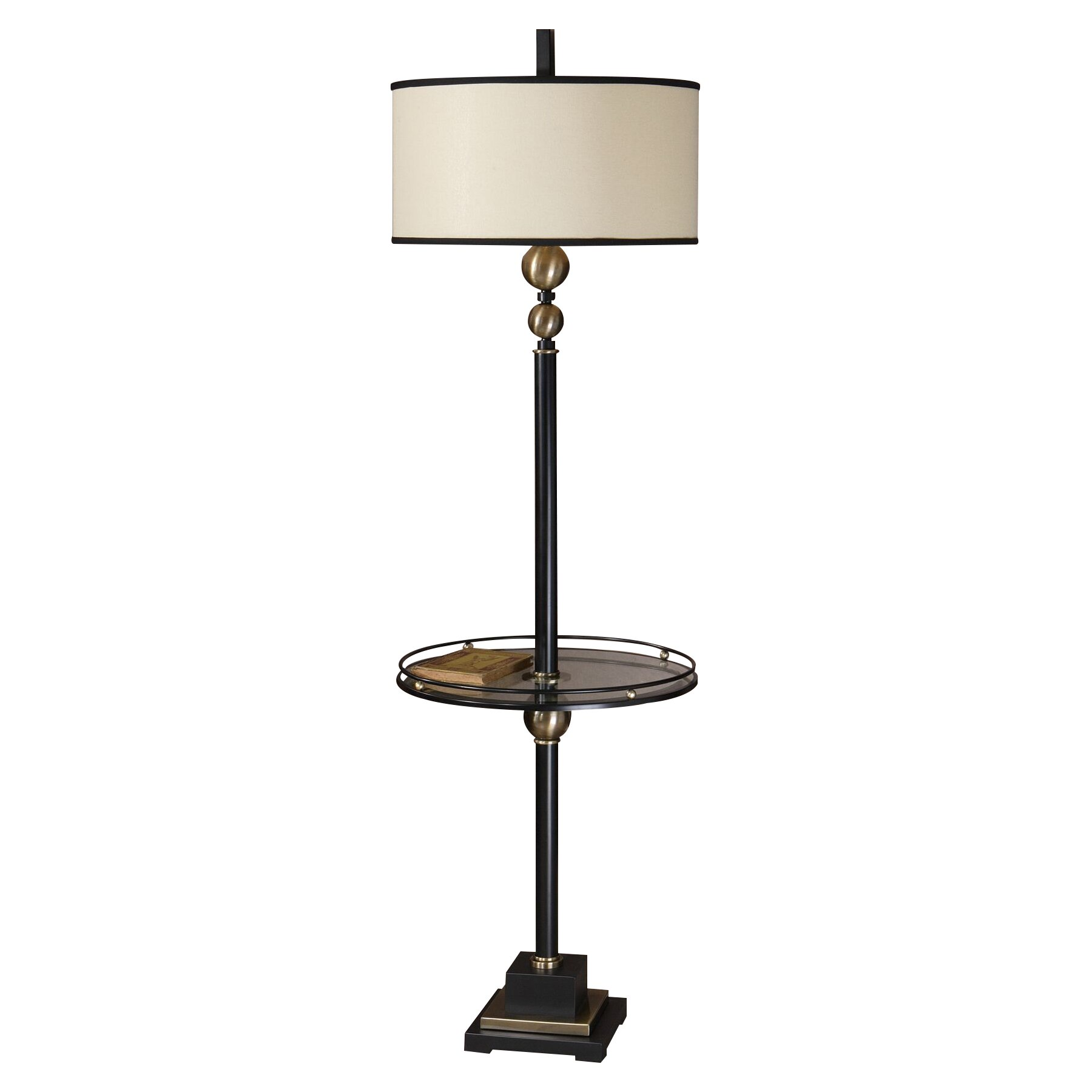 Uttermost revolution 66 floor lamp reviews wayfair for Floor lamp with table