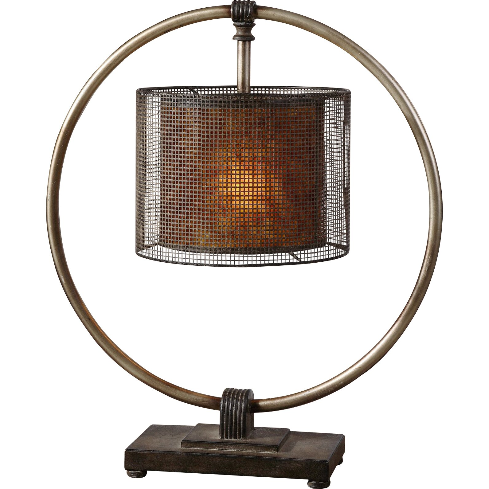 """Uttermost Dalou 28"""" H Table Lamp With Drum Shade & Reviews"""