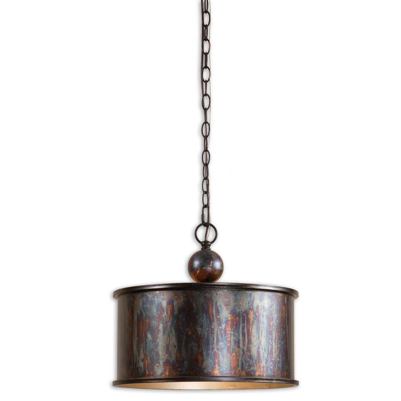 Large Foyer Drum Pendant : Uttermost ck generic light albiano drum foyer pendant