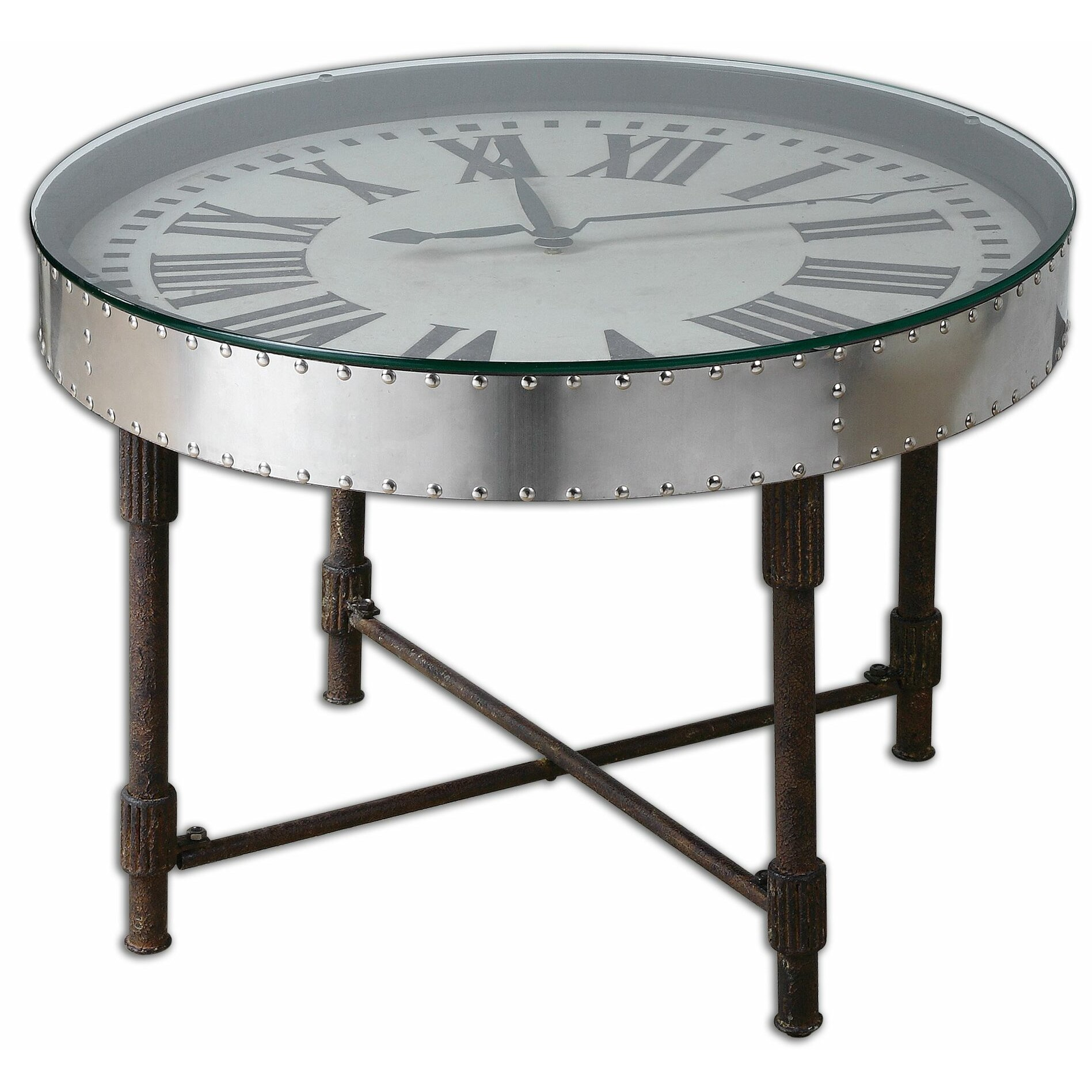 Uttermost cassem coffee table reviews wayfair Coffee table with clock