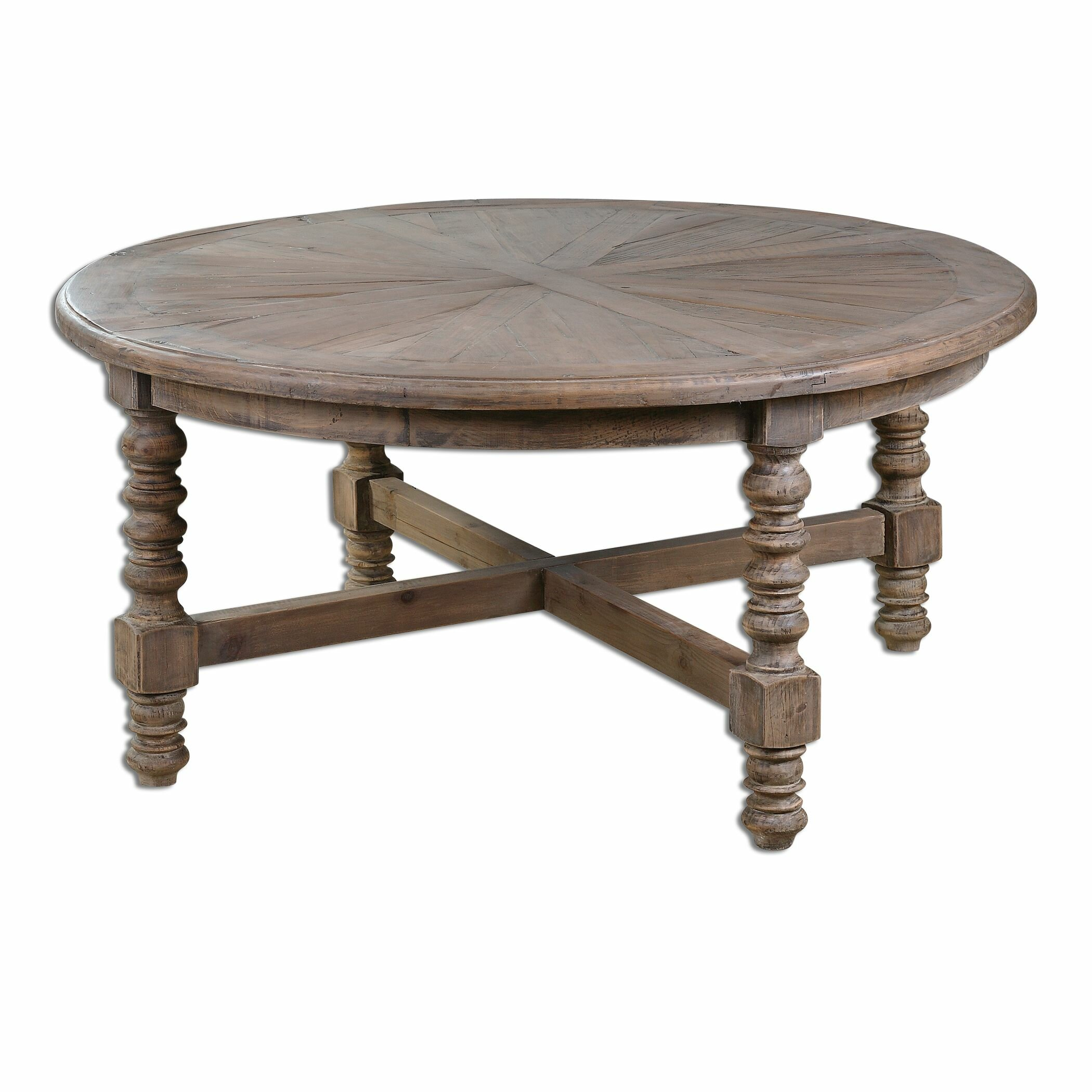 Uttermost samuelle wooden coffee table reviews wayfair for Large wooden coffee tables