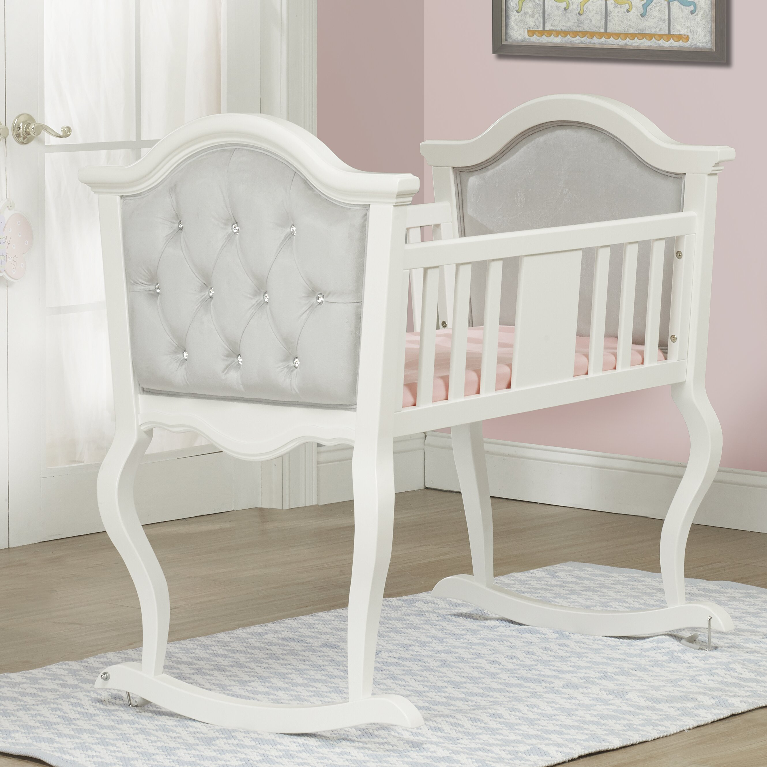Orbelle french lola cradle reviews wayfair for Upholstery fabric for baby nursery