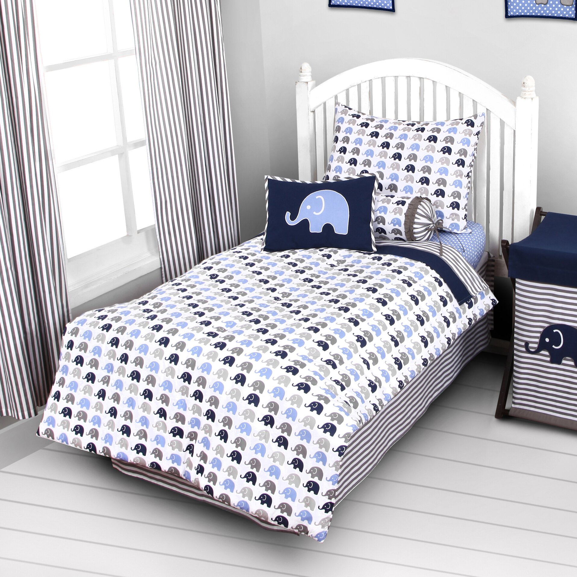 bacati elephants 3 piece toddler bedding set reviews