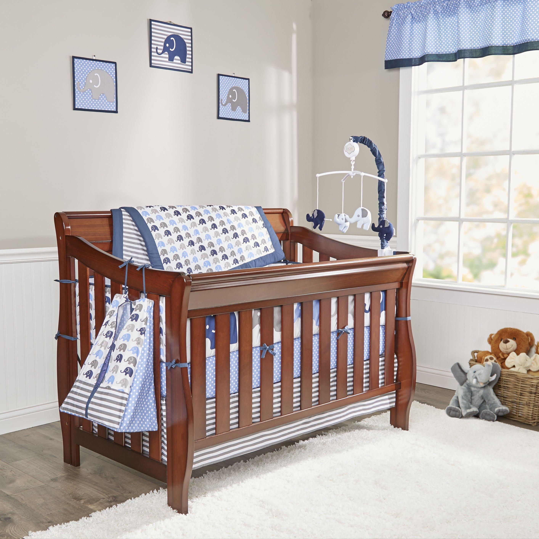 Bacati Elephants 10 Piece Crib Bedding Set Amp Reviews Wayfair