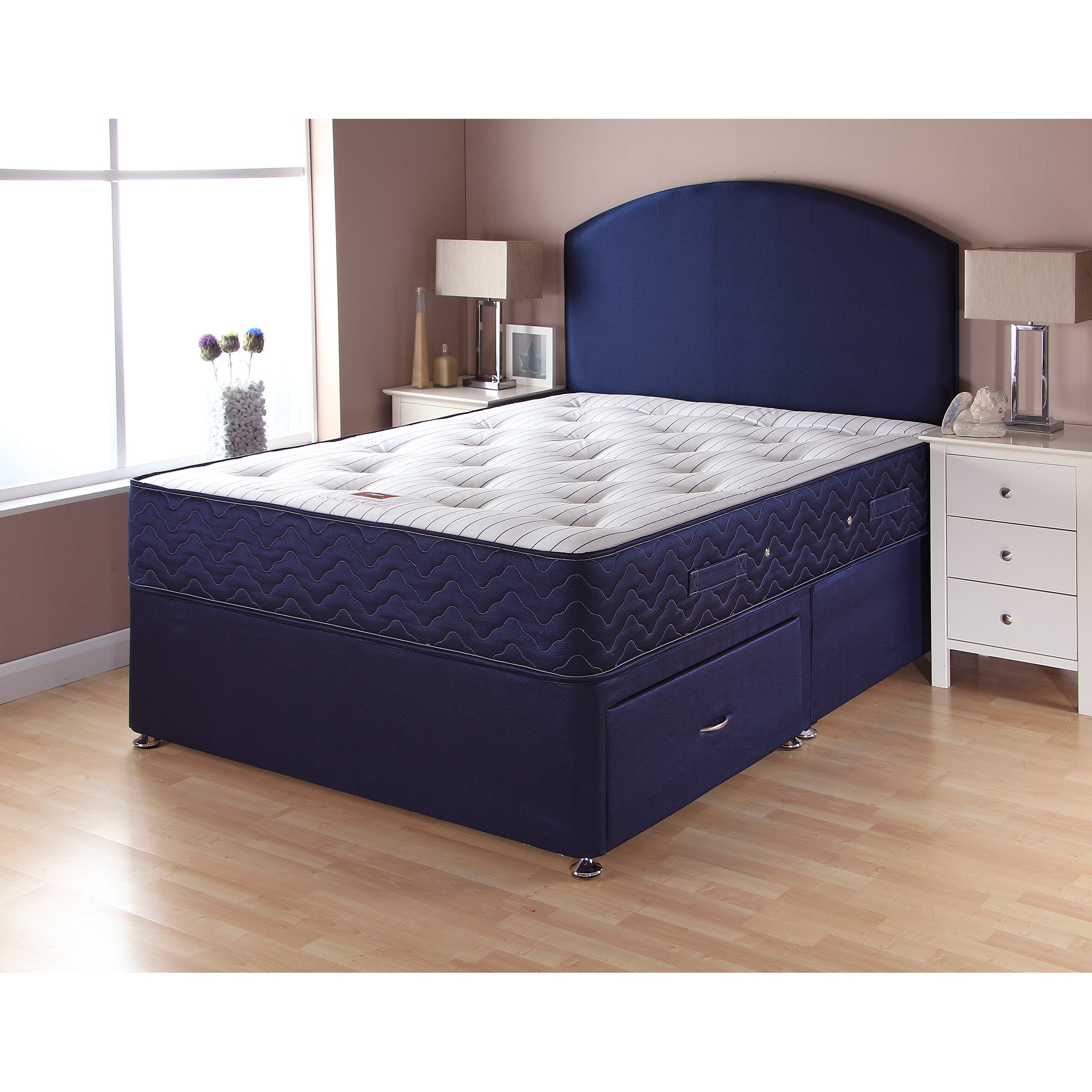Airsprung beds catalina pocket sprung divan bed wayfair uk for 4 drawer divan bed sale