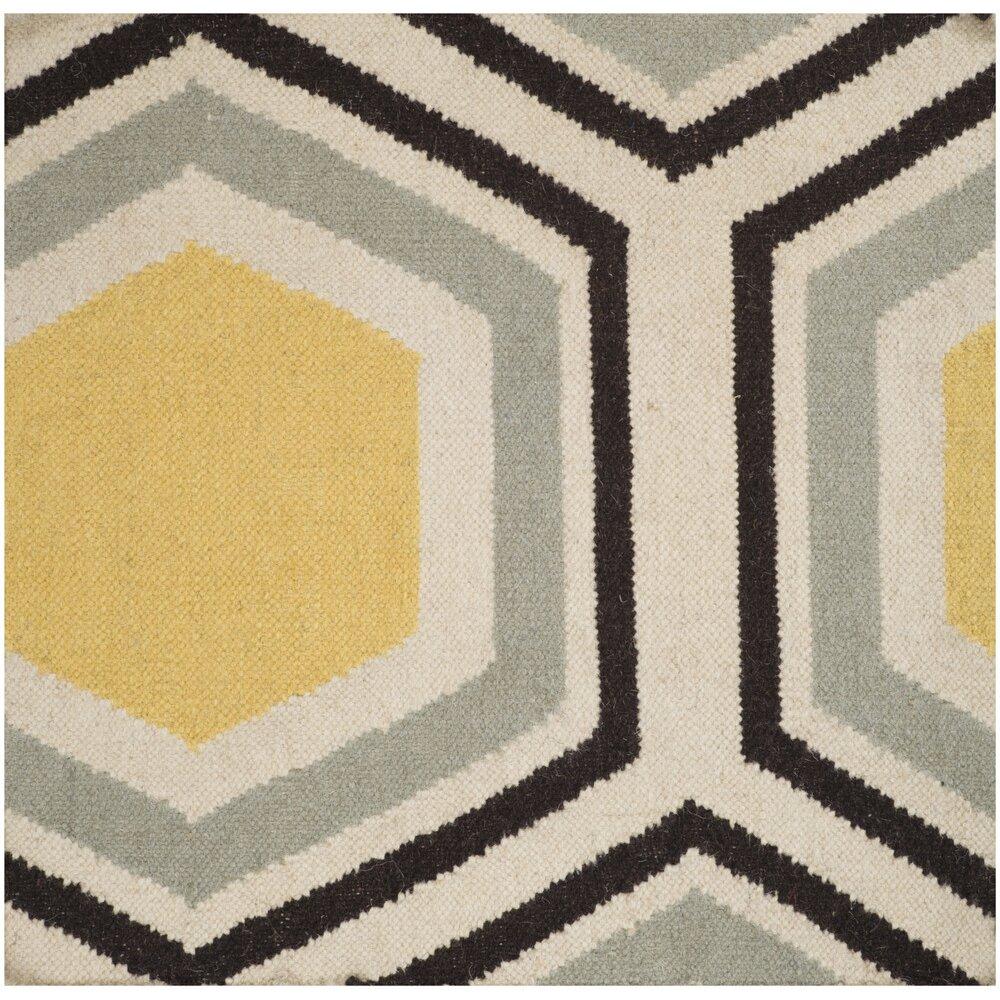 Jill Rosenwald Rugs Fallon Yellow/Gray Area Rug u0026 Reviews : Wayfair