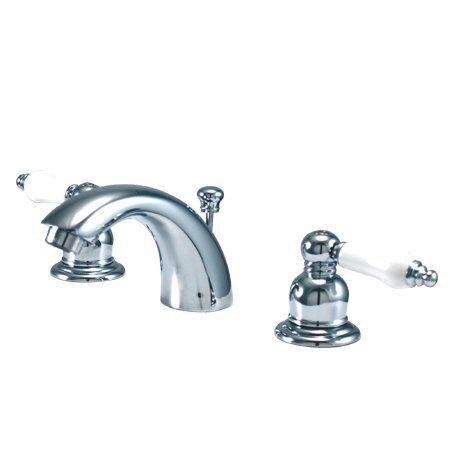Elements Of Design Elizabeth Mini Widespread Bathroom Faucet With Double Porcelain Lever Handles