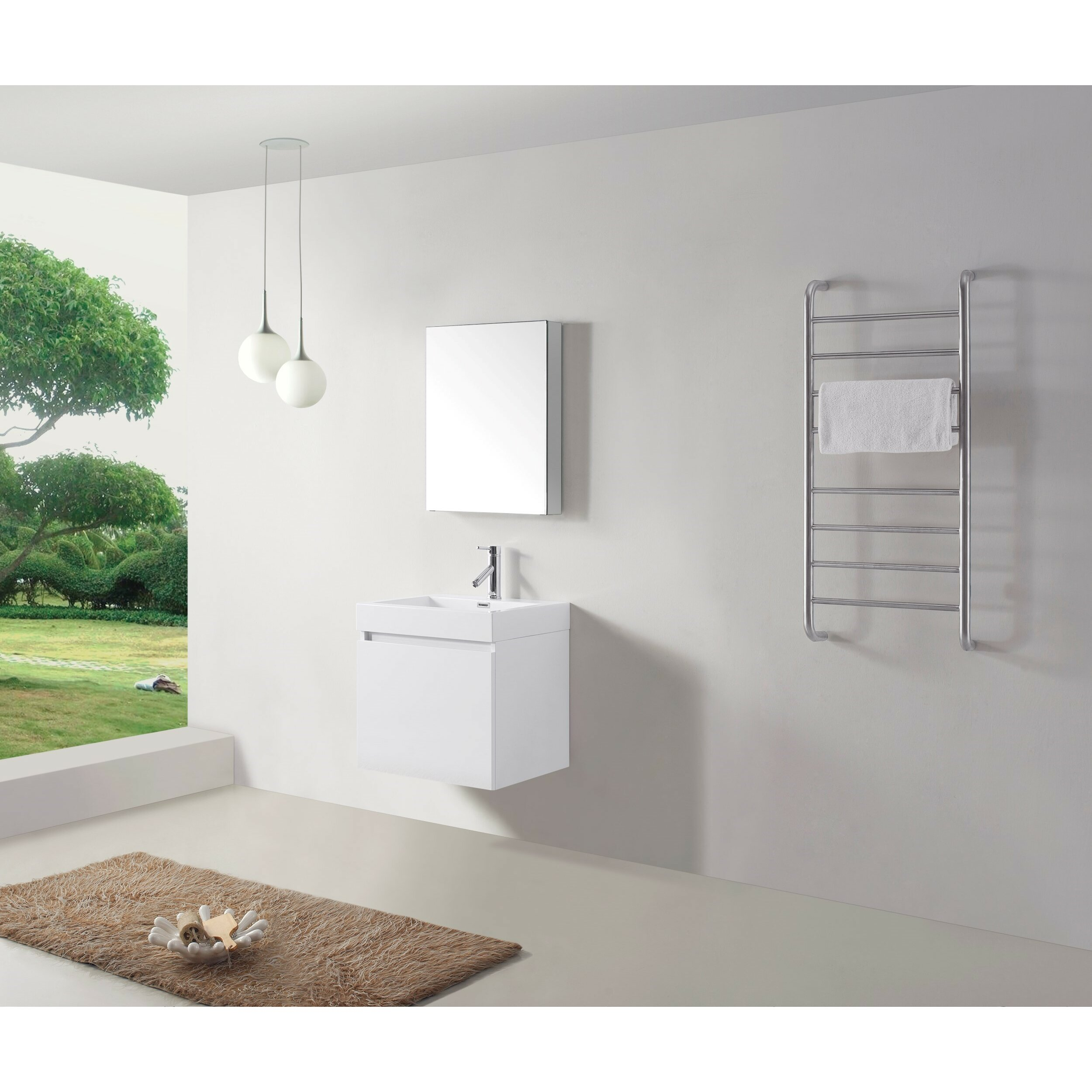 "Virtu Zuri 22"" Single Bathroom Vanity Set with Mirror & Reviews"