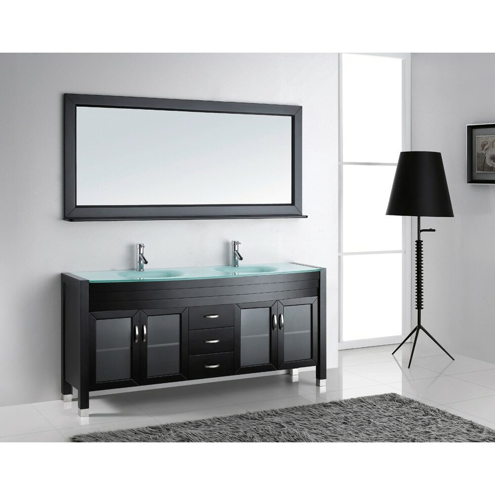 Unique Ultra Modern Series 29quot Single Bathroom Vanity Set With Mirror By