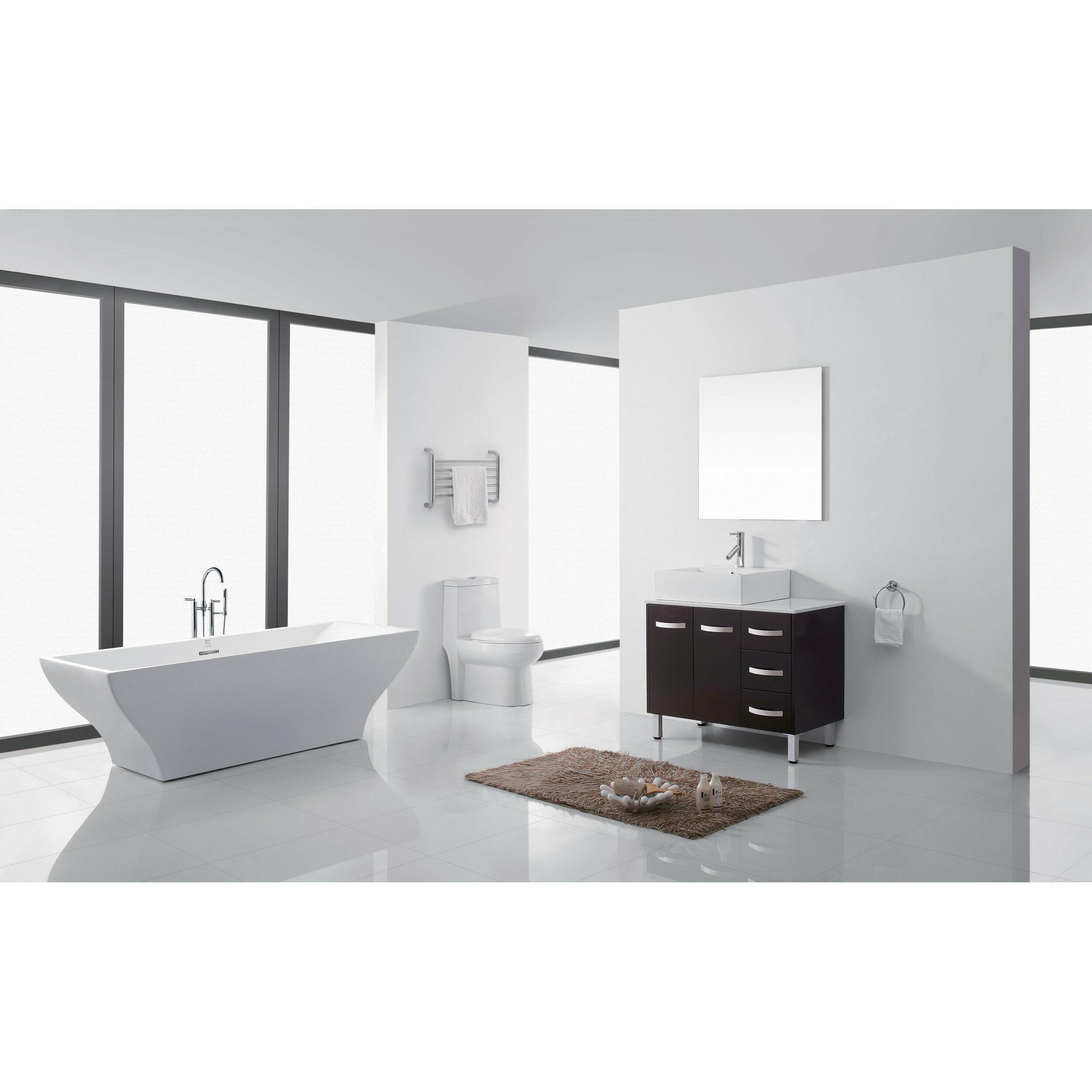 Virtu Ultra Modern Series 37 Single Bathroom Vanity Set