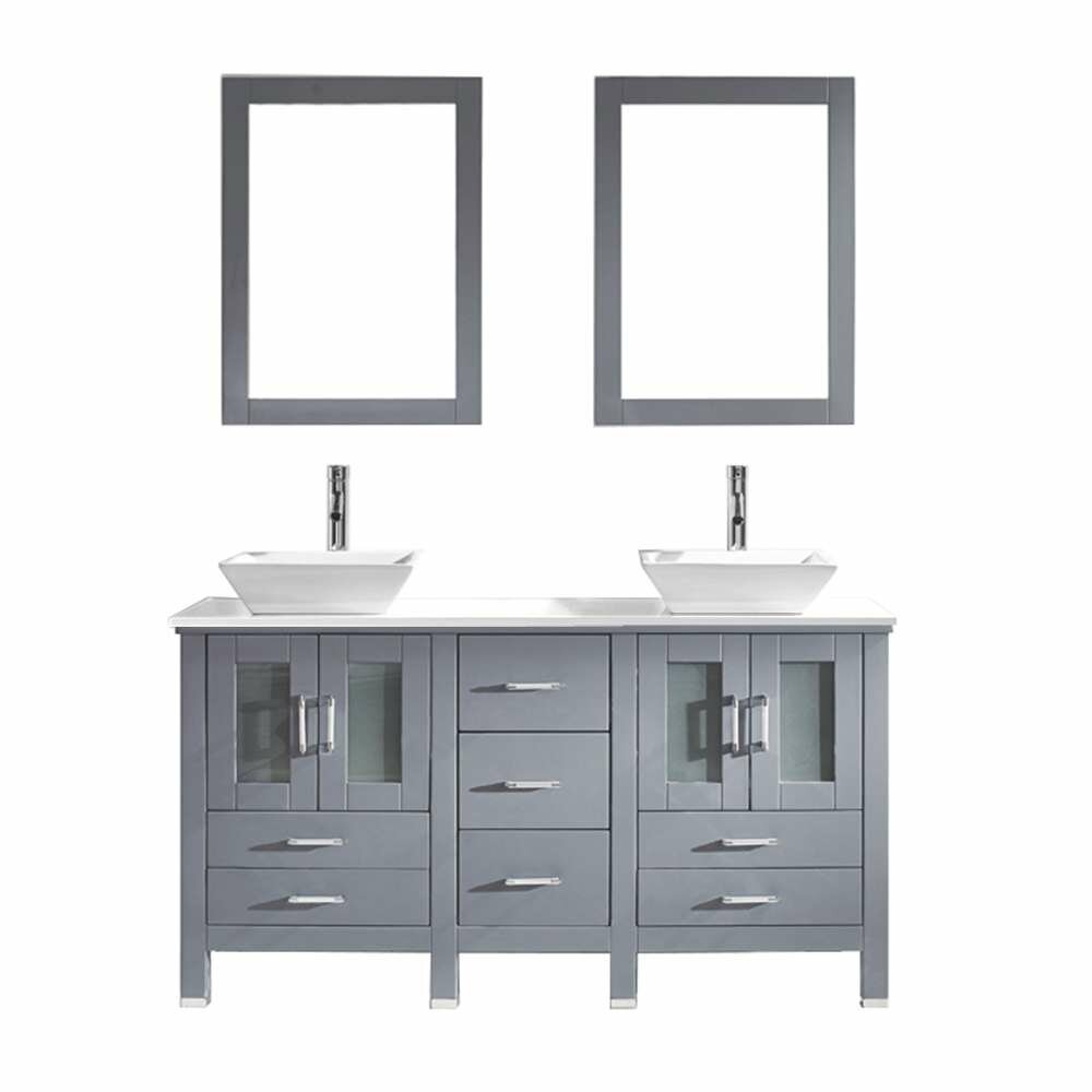 virtu bradford 60 quot bathroom vanity set with white
