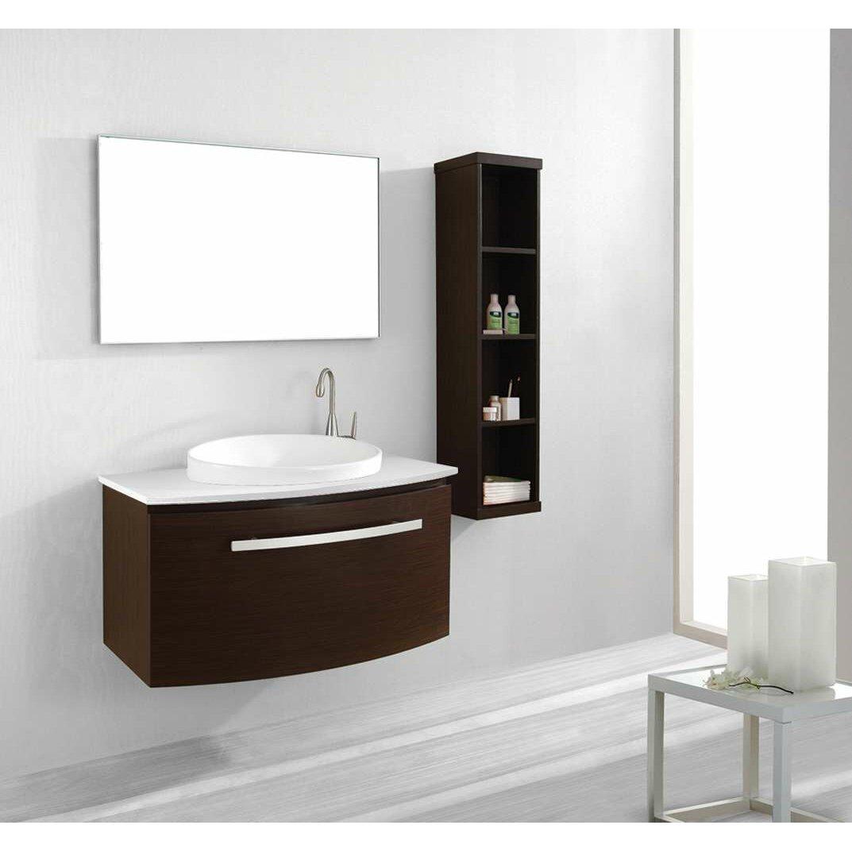 Virtu Anabelle 39 Single Bathroom Vanity Set With White