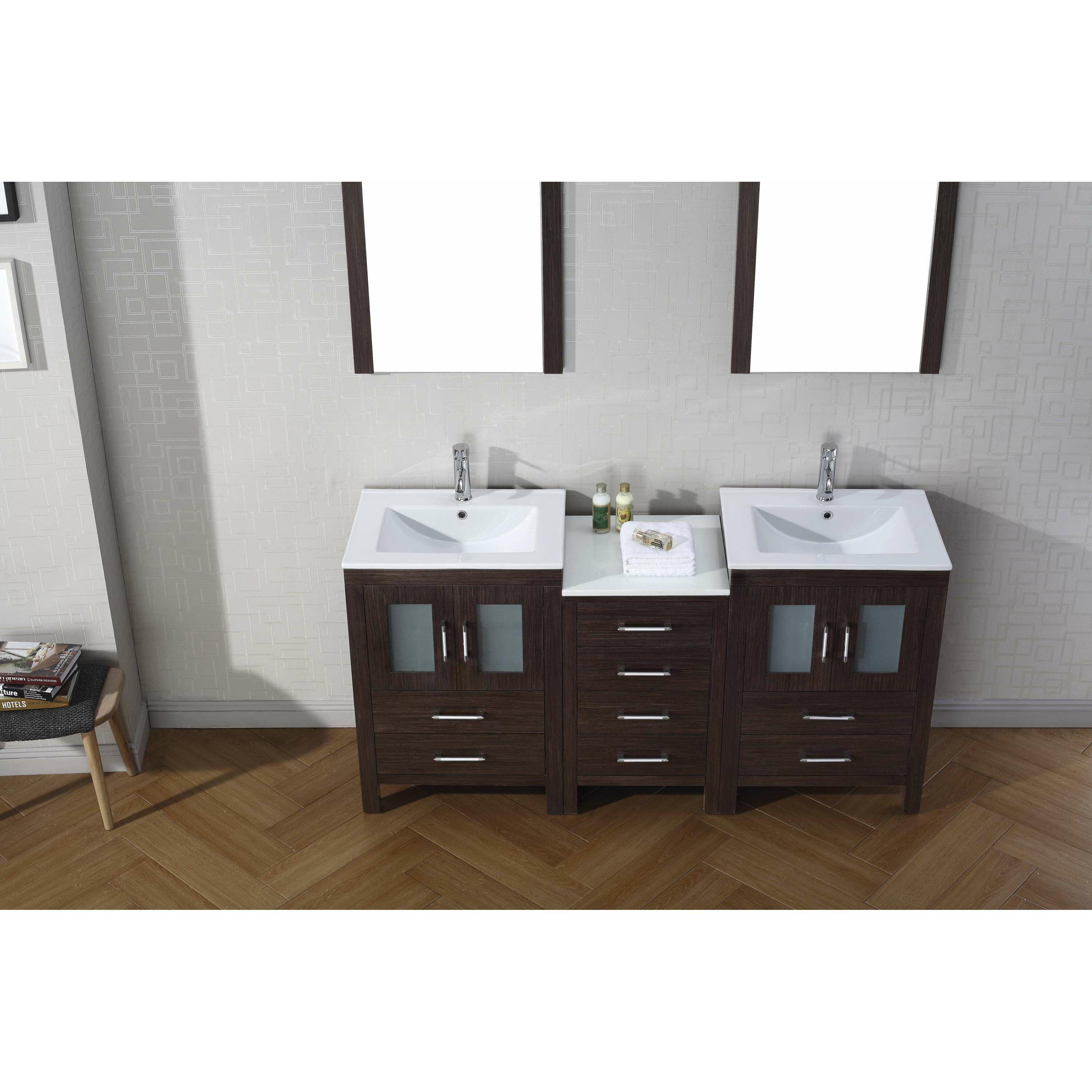 Virtu Dior 66 Double Bathroom Vanity Set With Mirror Reviews Wayfair