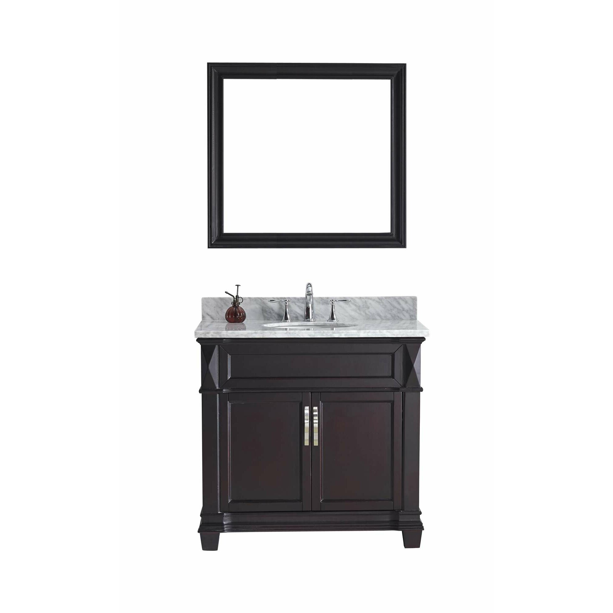 Marble top bathroom cabinet