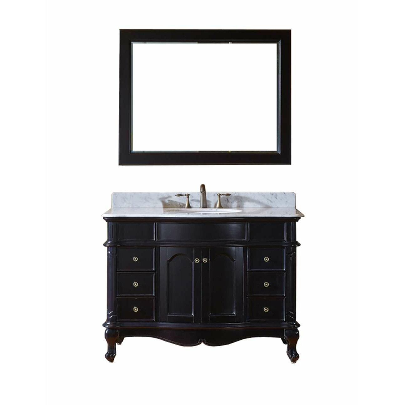 Virtu Norhaven 48 Single Bathroom Vanity Set With Mirror Reviews Wayfair