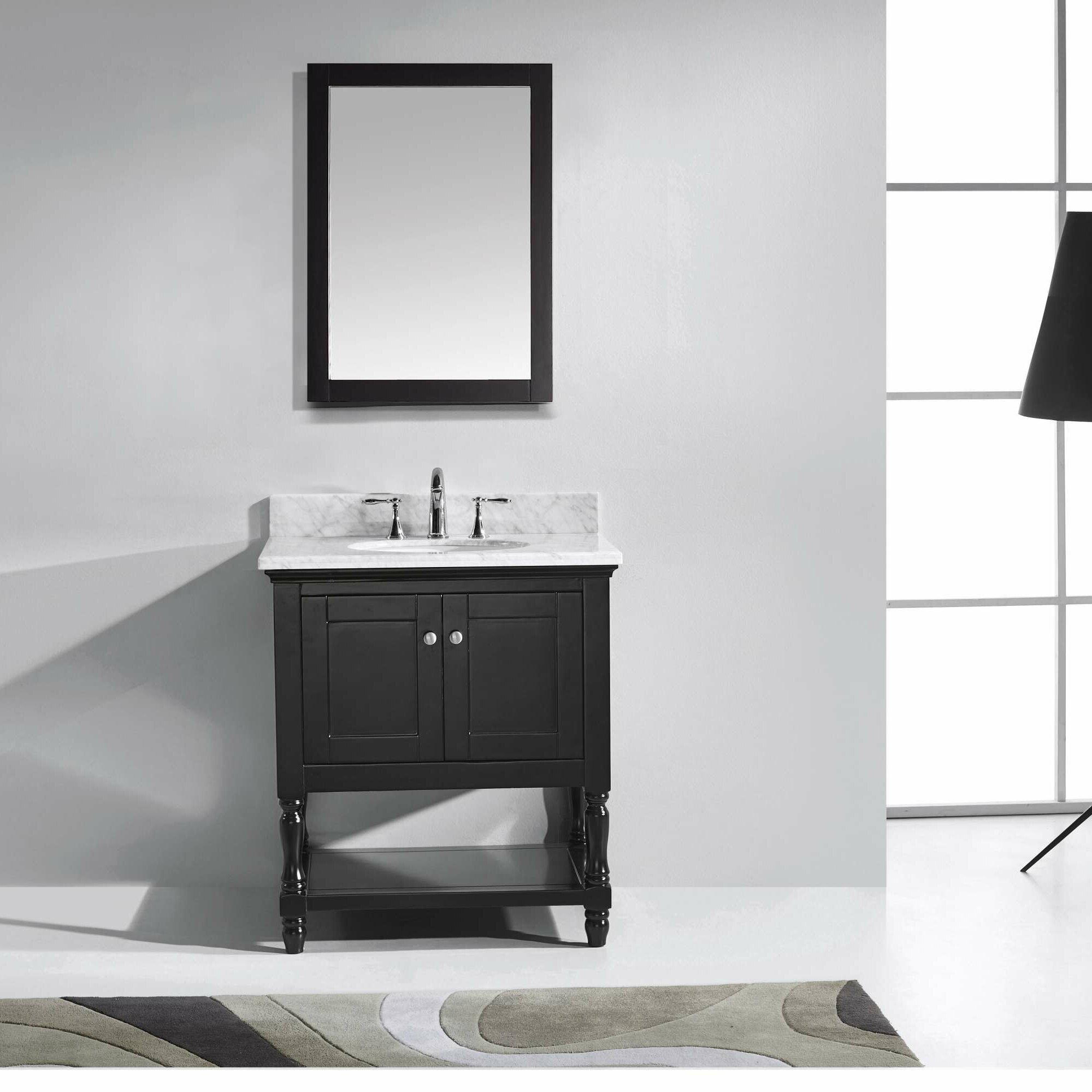 Virtu Julianna 30 Single Bathroom Vanity Set With Carrara White Top And Mirror Reviews