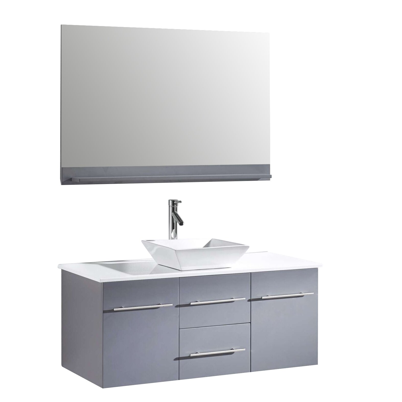 virtu marsala 48 quot single bathroom vanity set with white