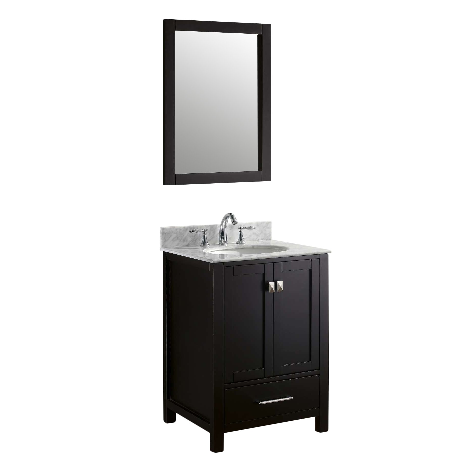 virtu caroline avenue 24 8 quot single bathroom vanity set