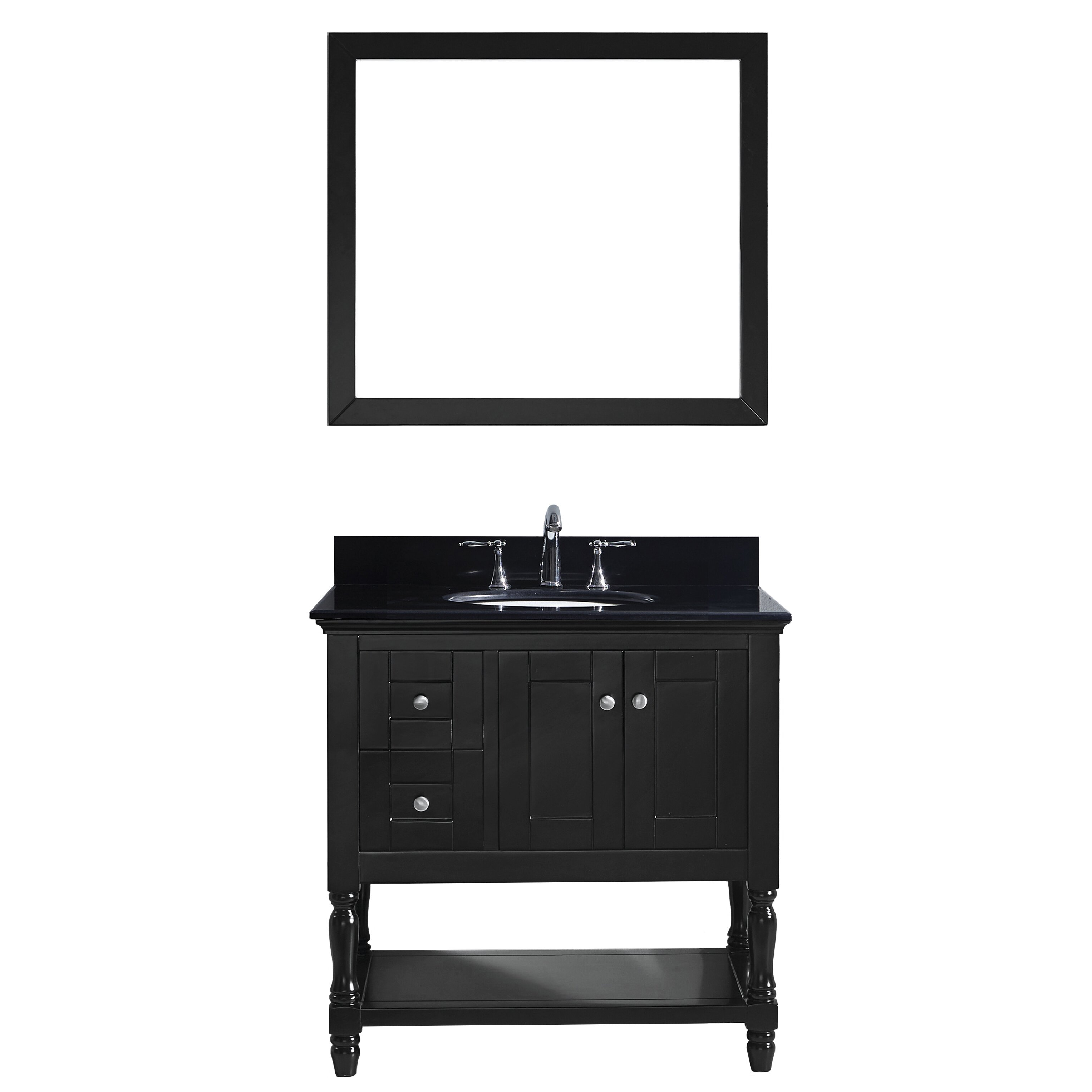 virtu julianna 36 quot single bathroom vanity set with black