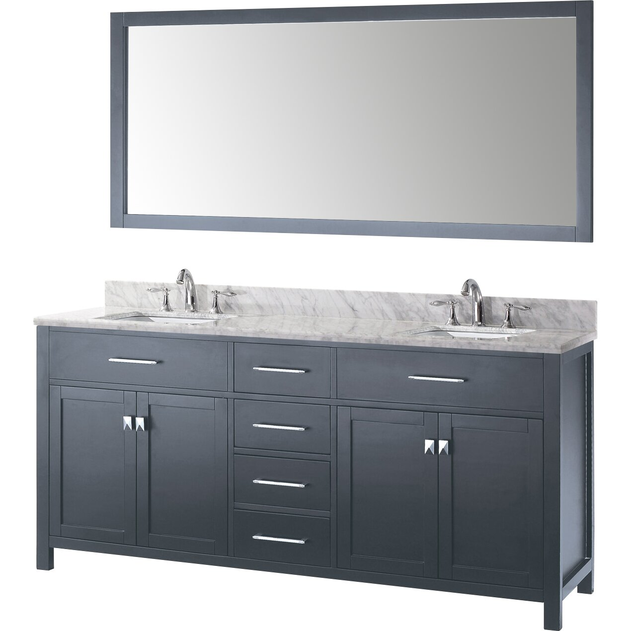 virtu caroline 72 quot bathroom vanity set with carrara 21479