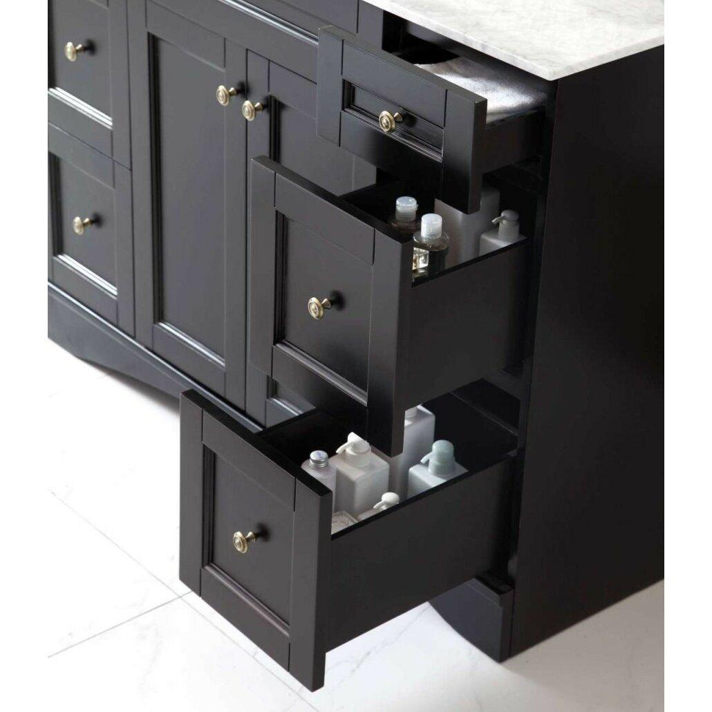 virtu elise 47 bathroom vanity cabinet reviews wayfair. Black Bedroom Furniture Sets. Home Design Ideas