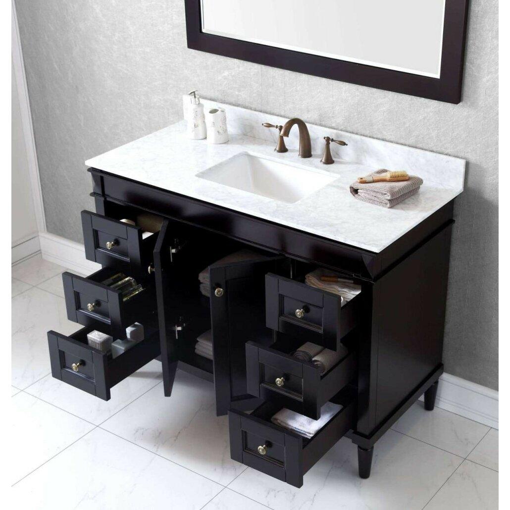 Virtu tiffany 48 bathroom vanity cabinet reviews wayfair for Bathroom cabinets reviews