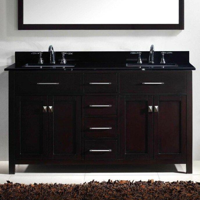 virtu caroline 60 bathroom vanity cabinet reviews wayfair