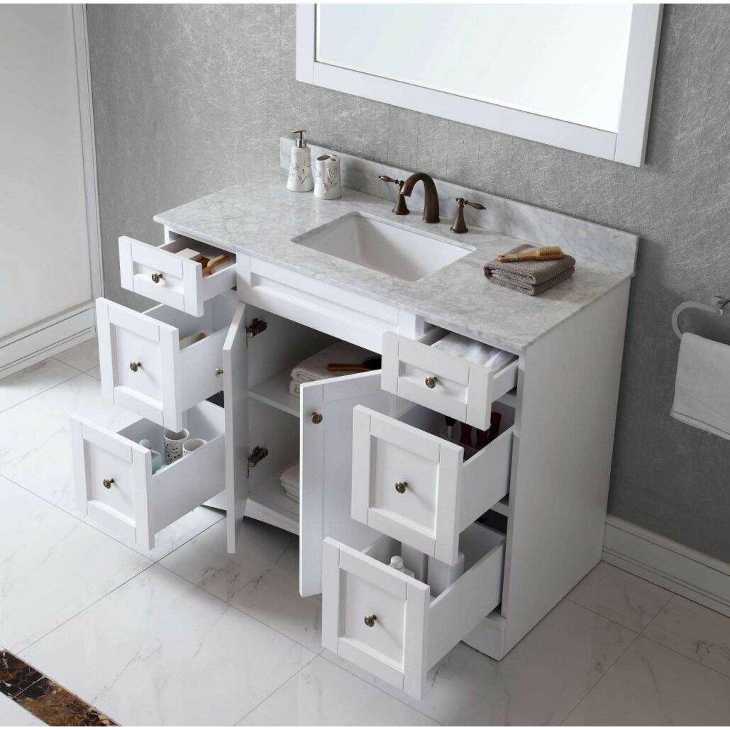 Virtu elise 47 bathroom vanity cabinet reviews wayfair for Bathroom cabinets reviews