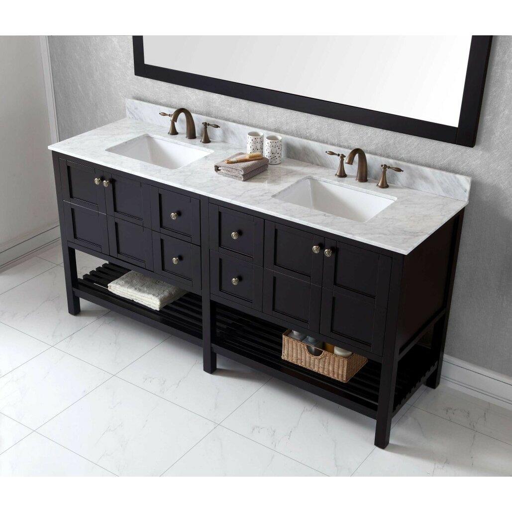 """Virtu Winterfell 72"""" Bathroom Vanity Cabinet & Reviews"""