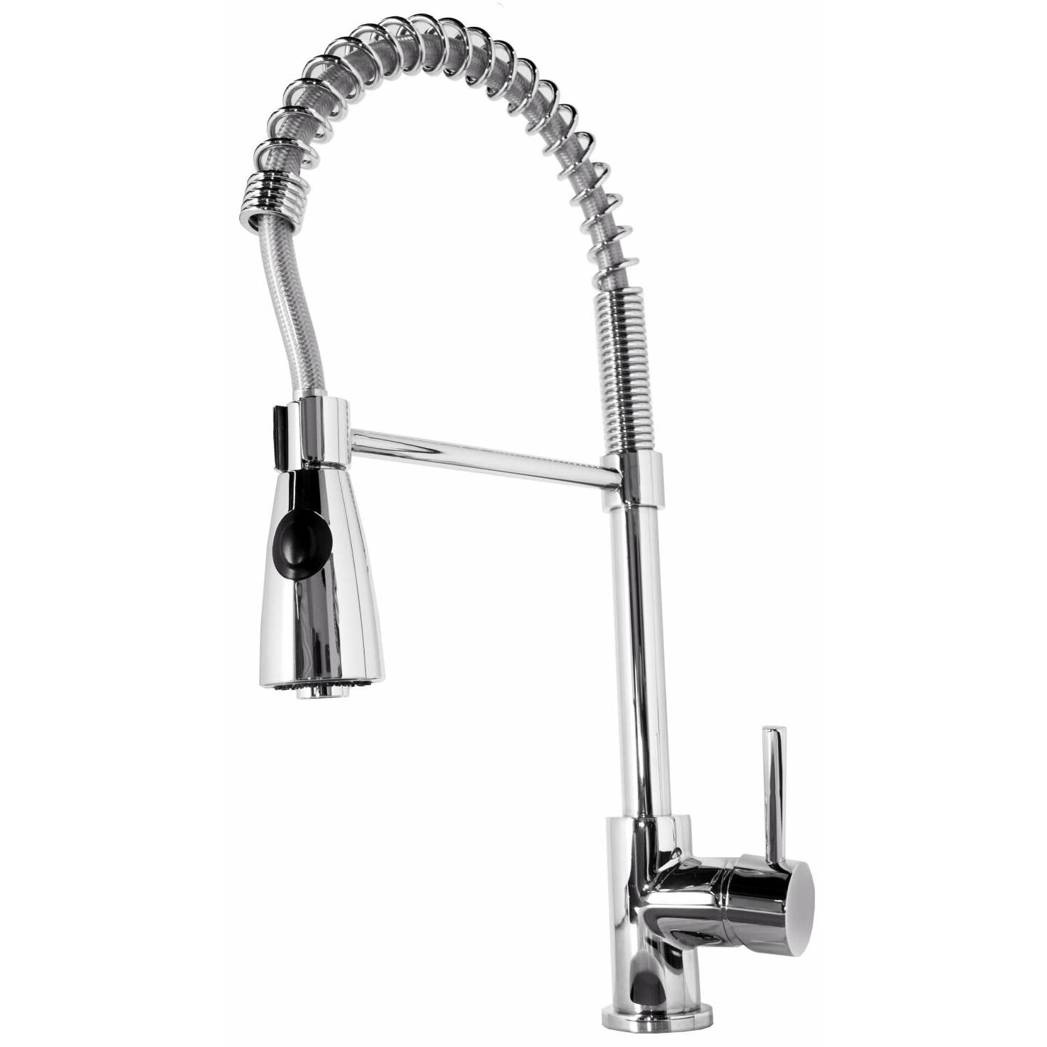 kitchen faucet pull down sprayer virtu neso single handle single kitchen faucet with 24674
