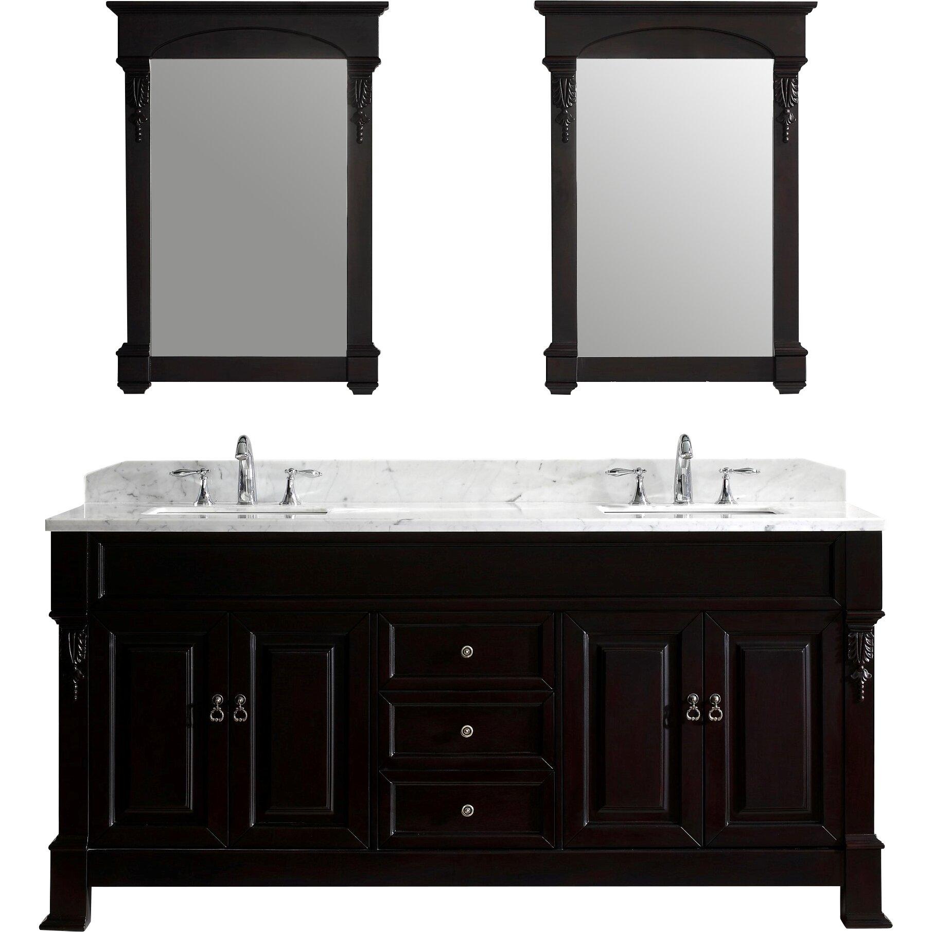 Virtu Huntshire 72 Double Bathroom Vanity Set With Mirror